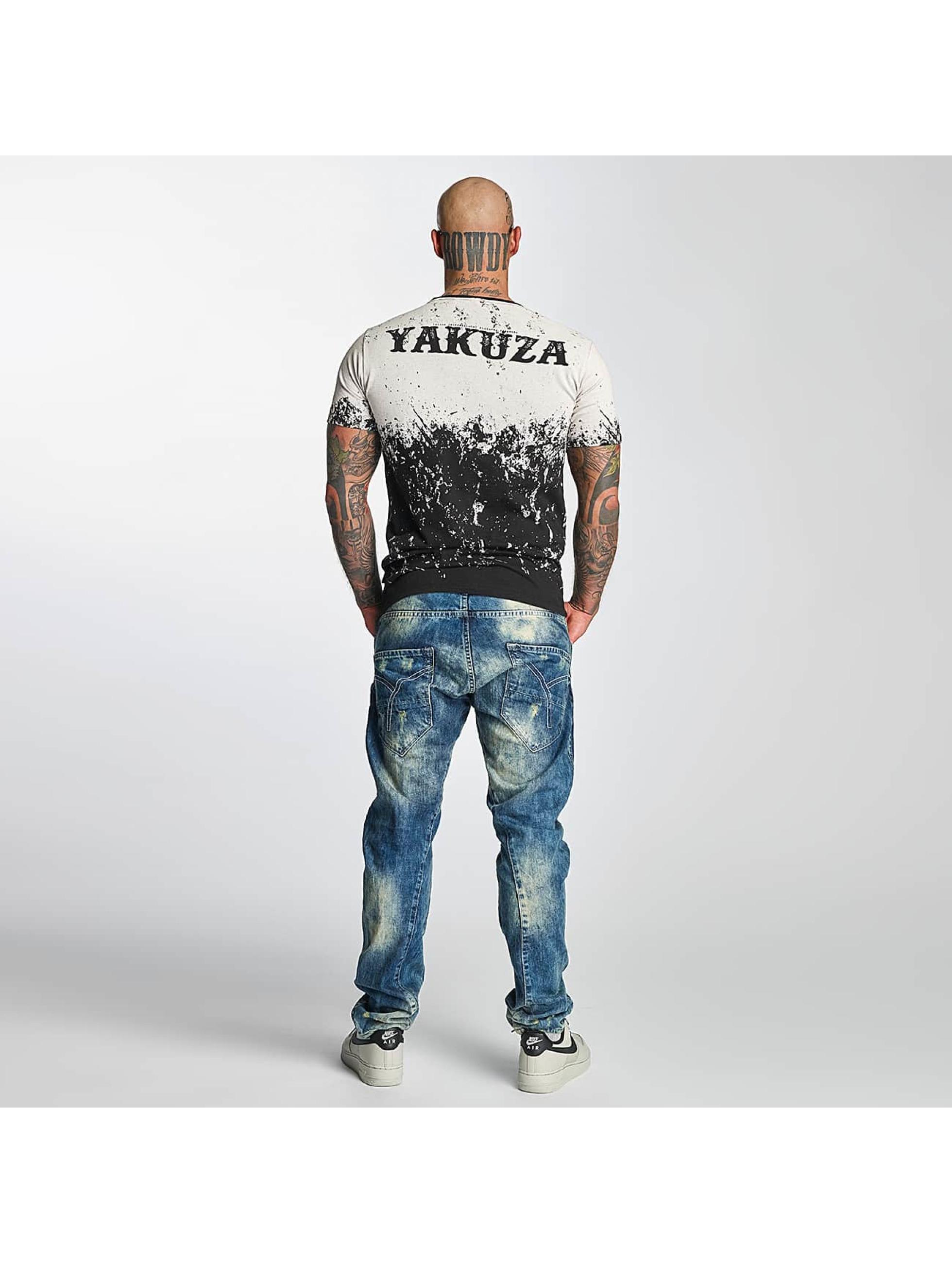 Yakuza T-Shirty Splatter czarny