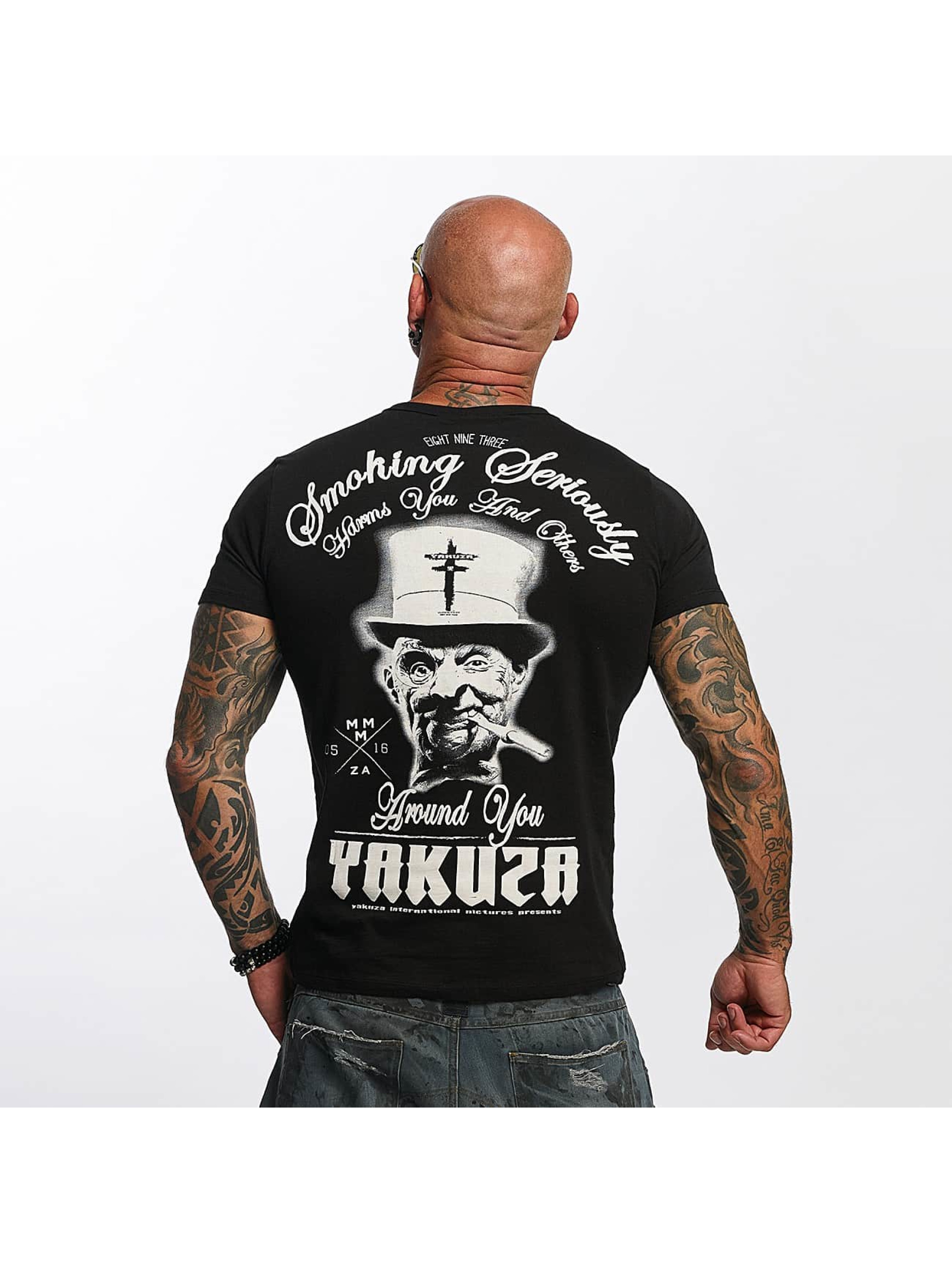 Yakuza T-Shirty Smoking Seriously czarny