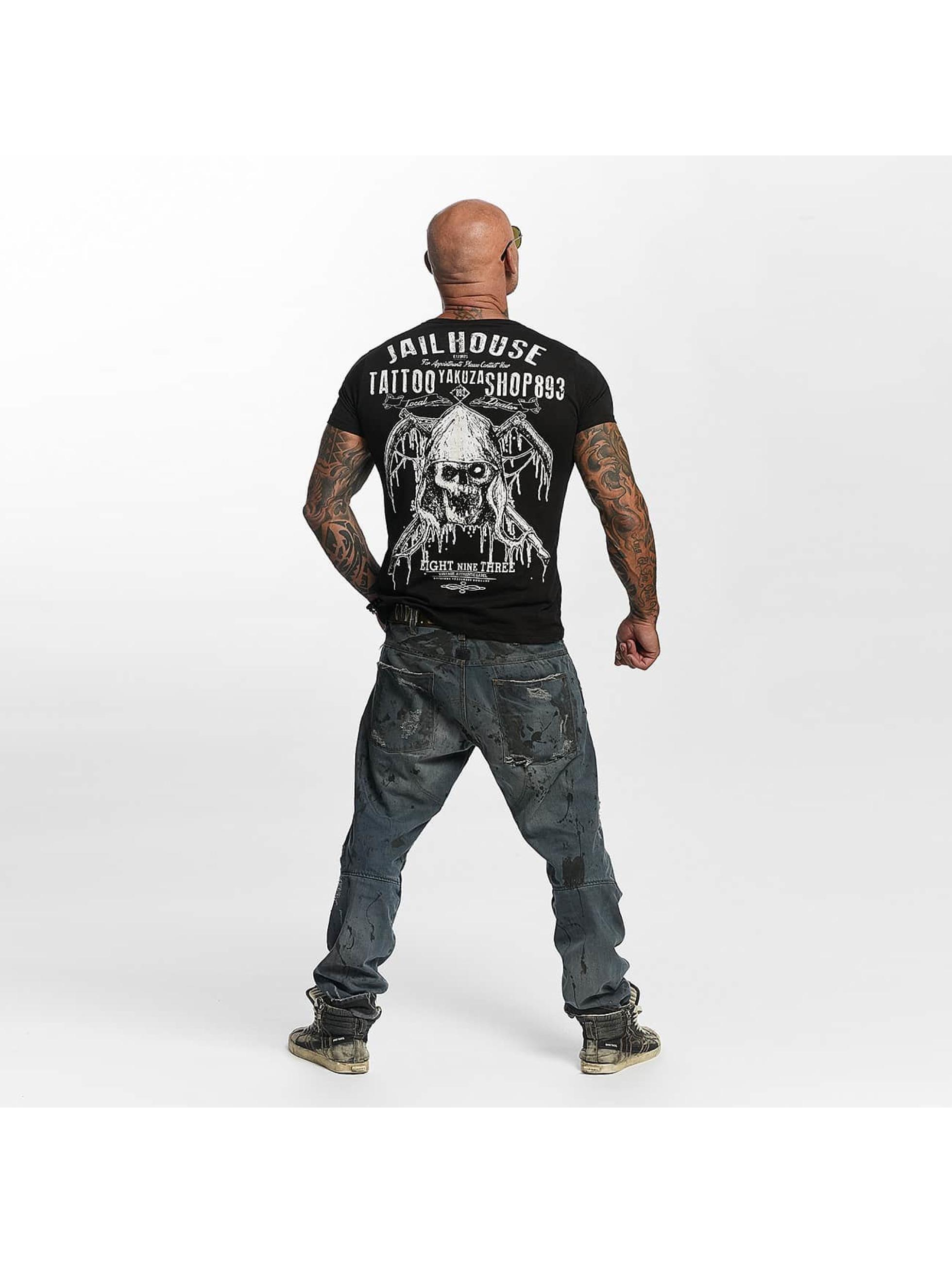 Yakuza T-Shirty Tattoo Shop czarny