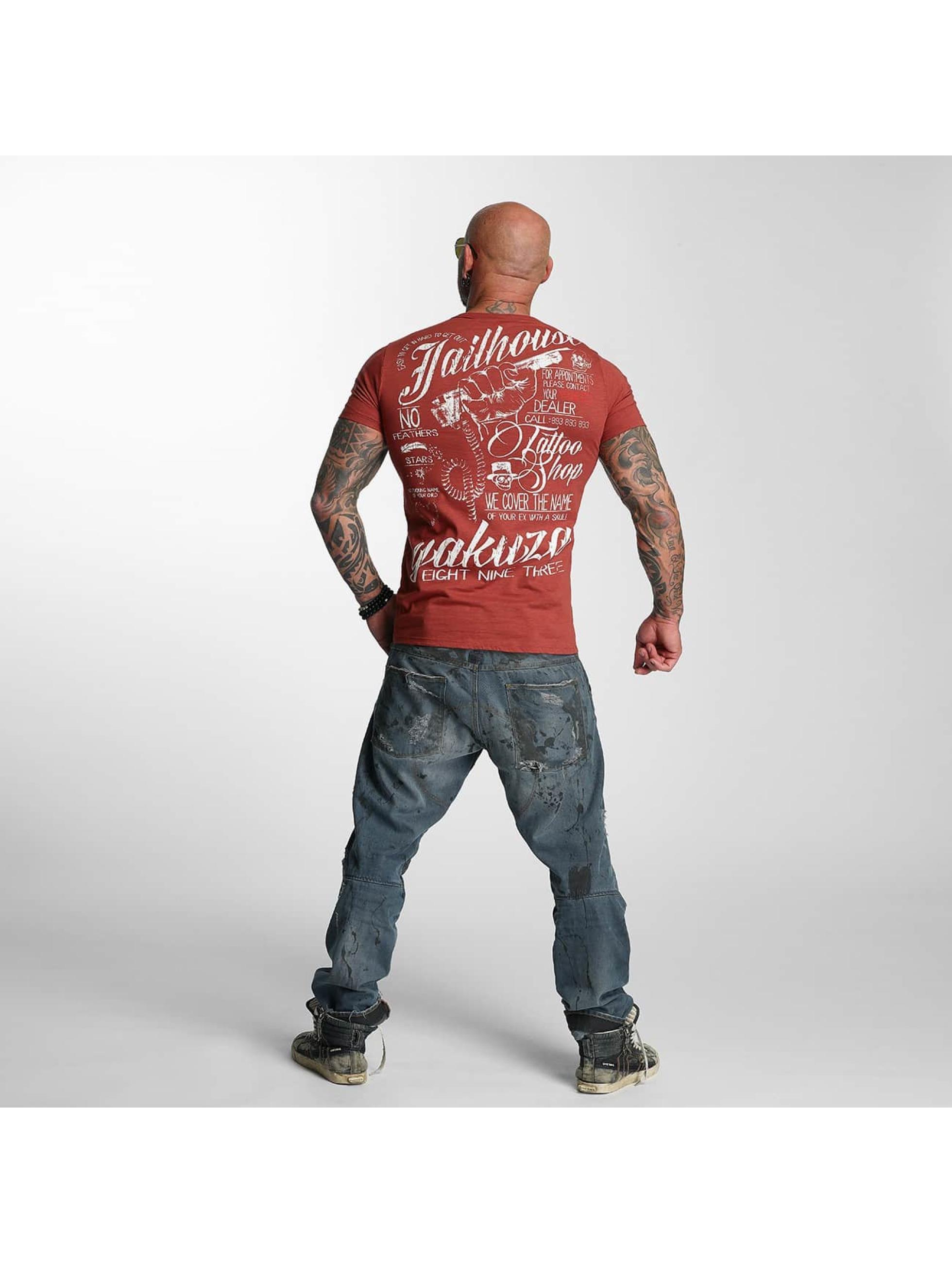 Yakuza T-Shirty Jailhouse czerwony