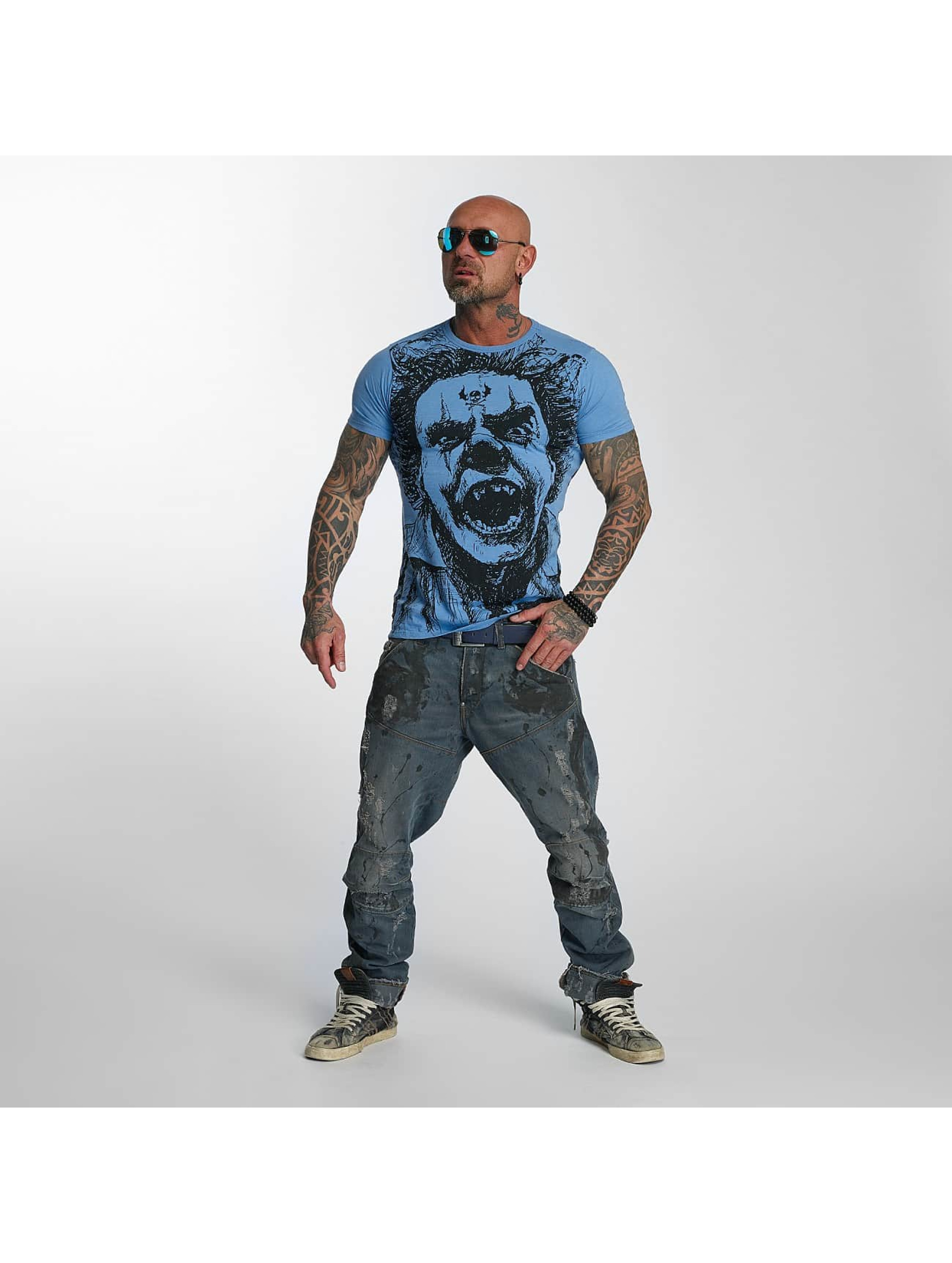 Yakuza T-Shirty Allover King niebieski