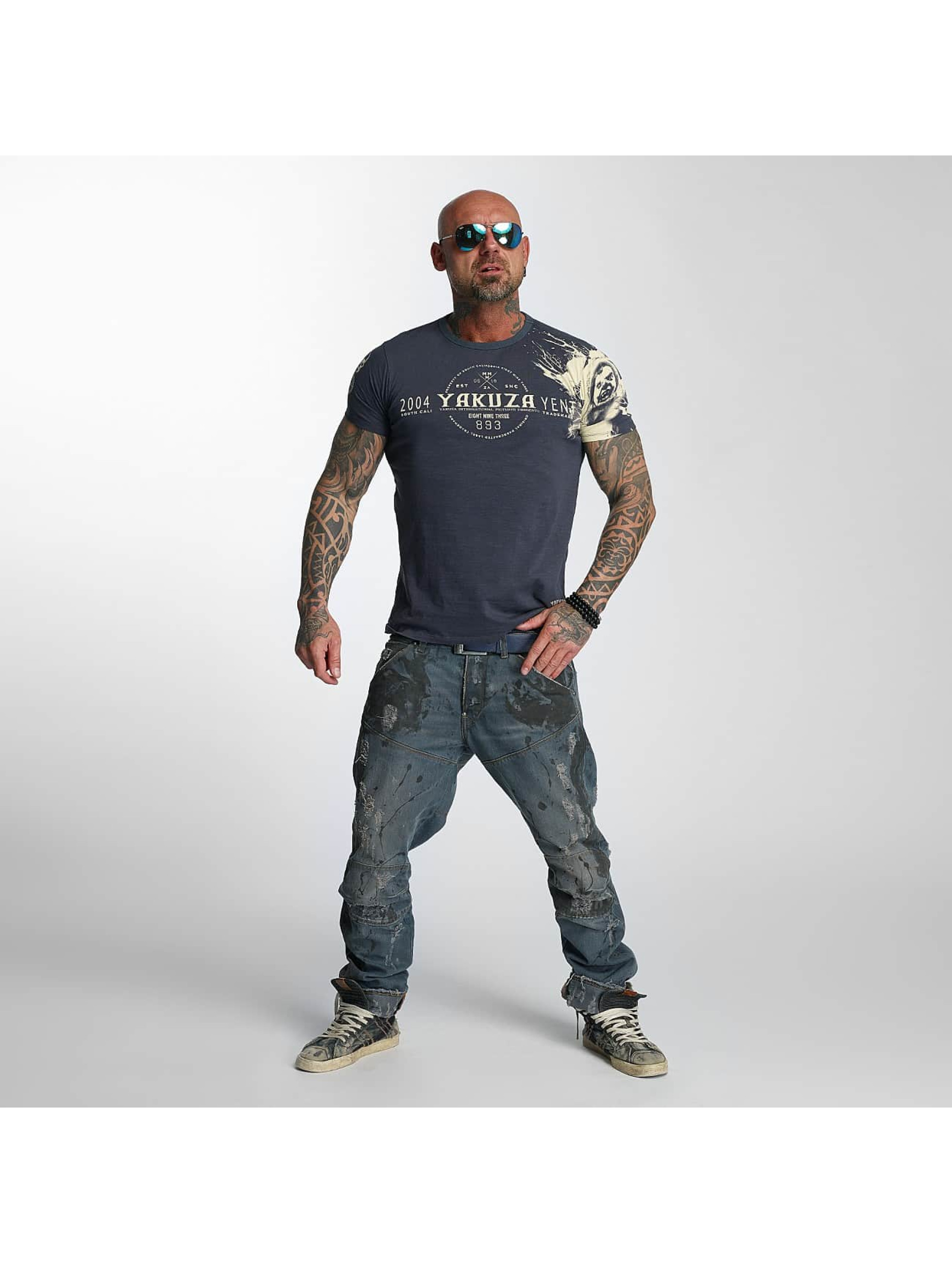 Yakuza T-Shirty Yent niebieski