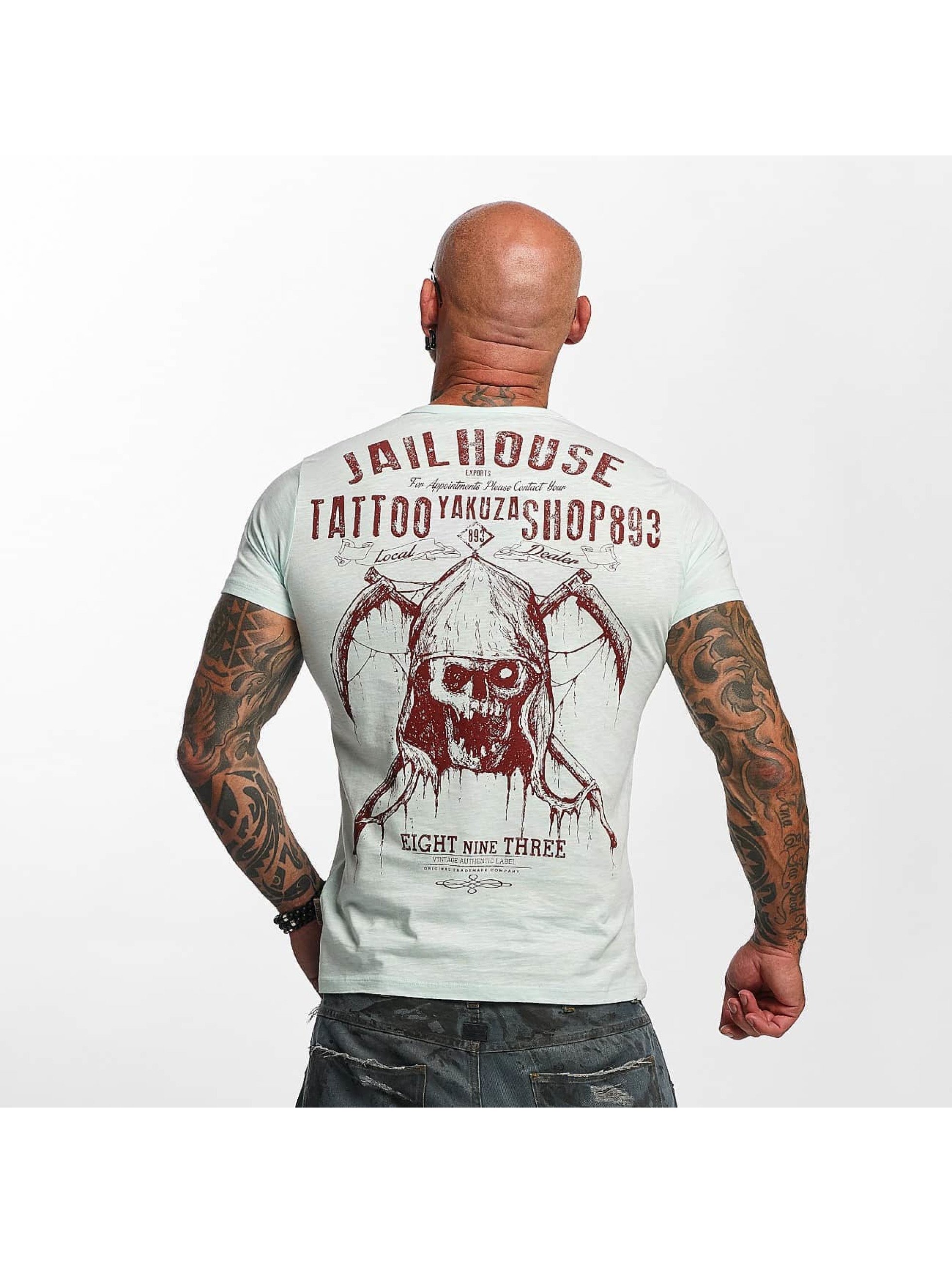 Yakuza T-Shirty Tattoo Shop niebieski