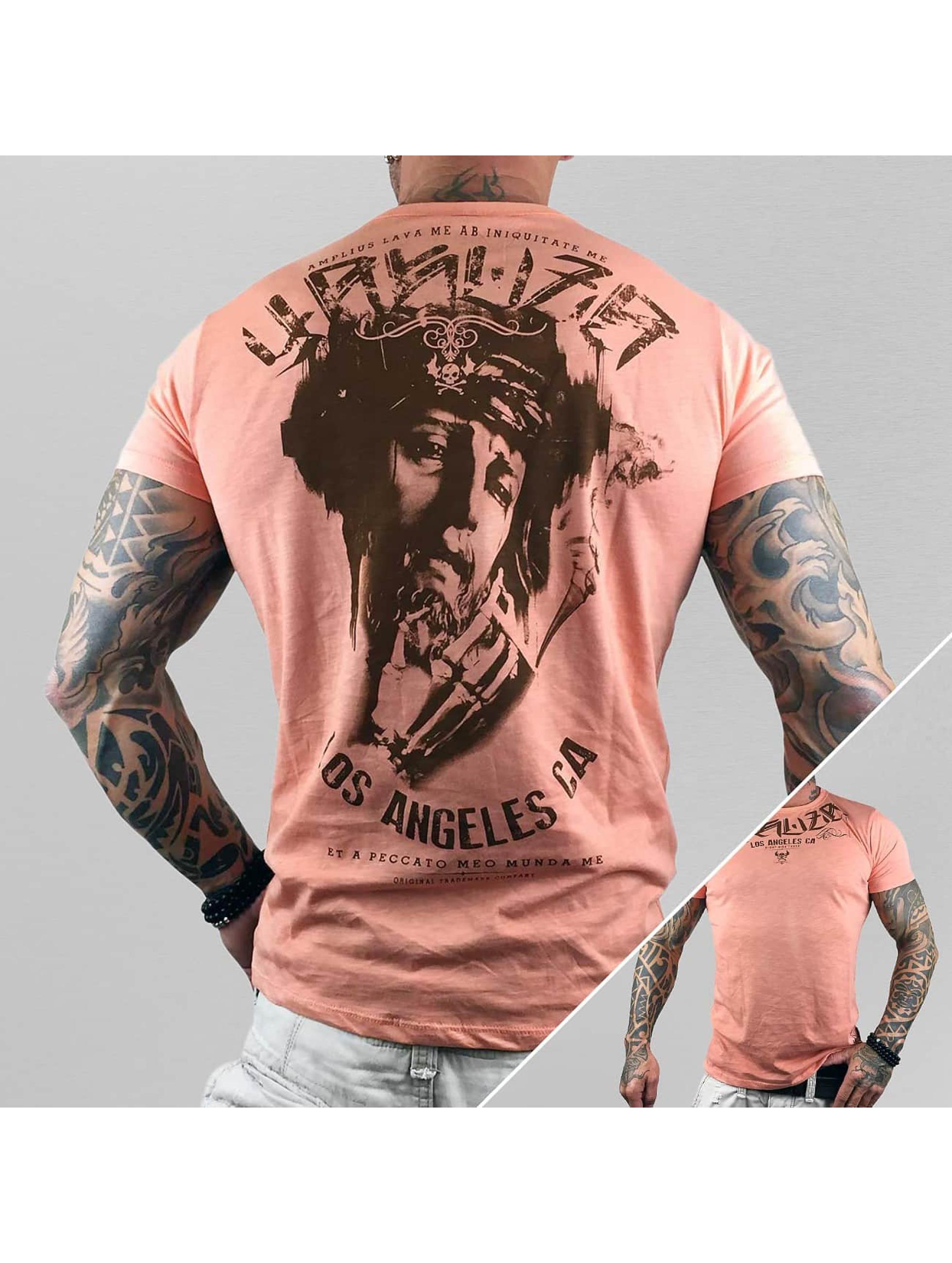Yakuza T-Shirty Smoka pomaranczowy