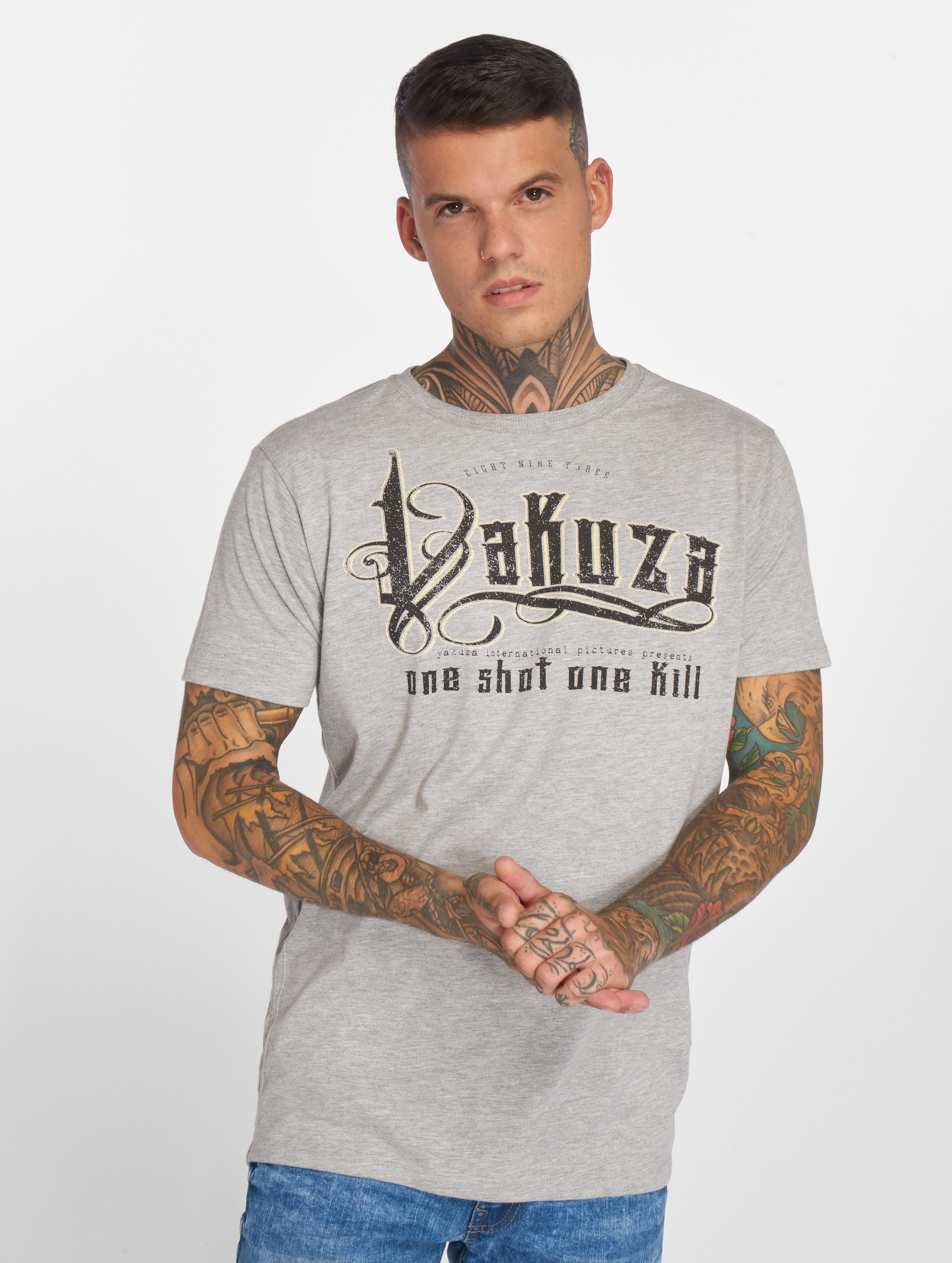 Yakuza T-Shirty One Shot szary