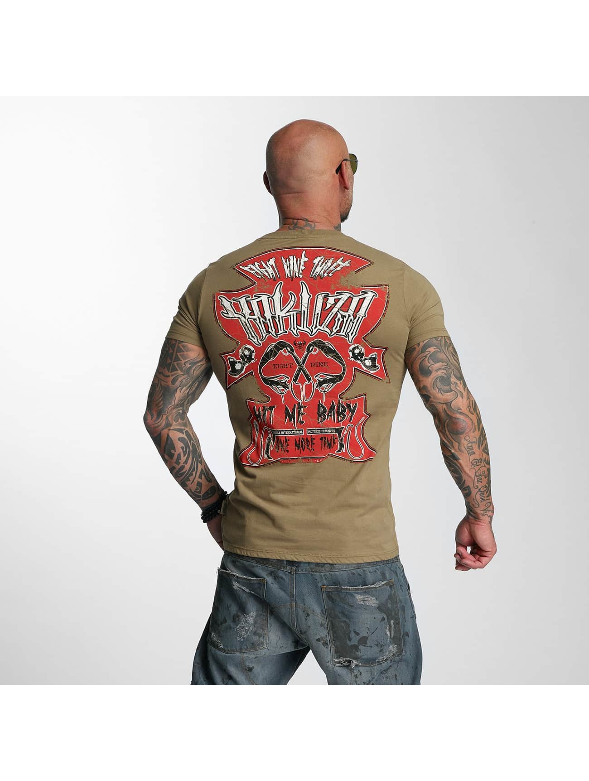 Yakuza T-Shirty Hit Me zielony