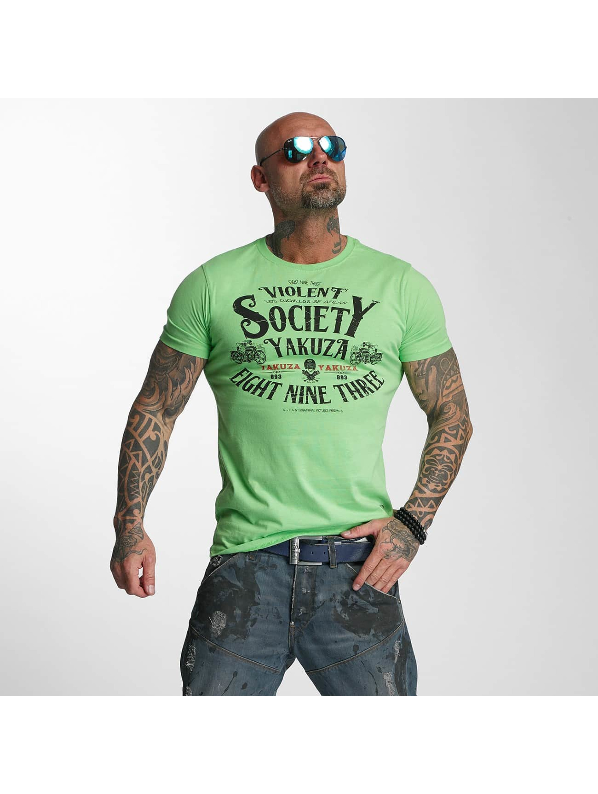 Yakuza T-Shirty Violent Society zielony