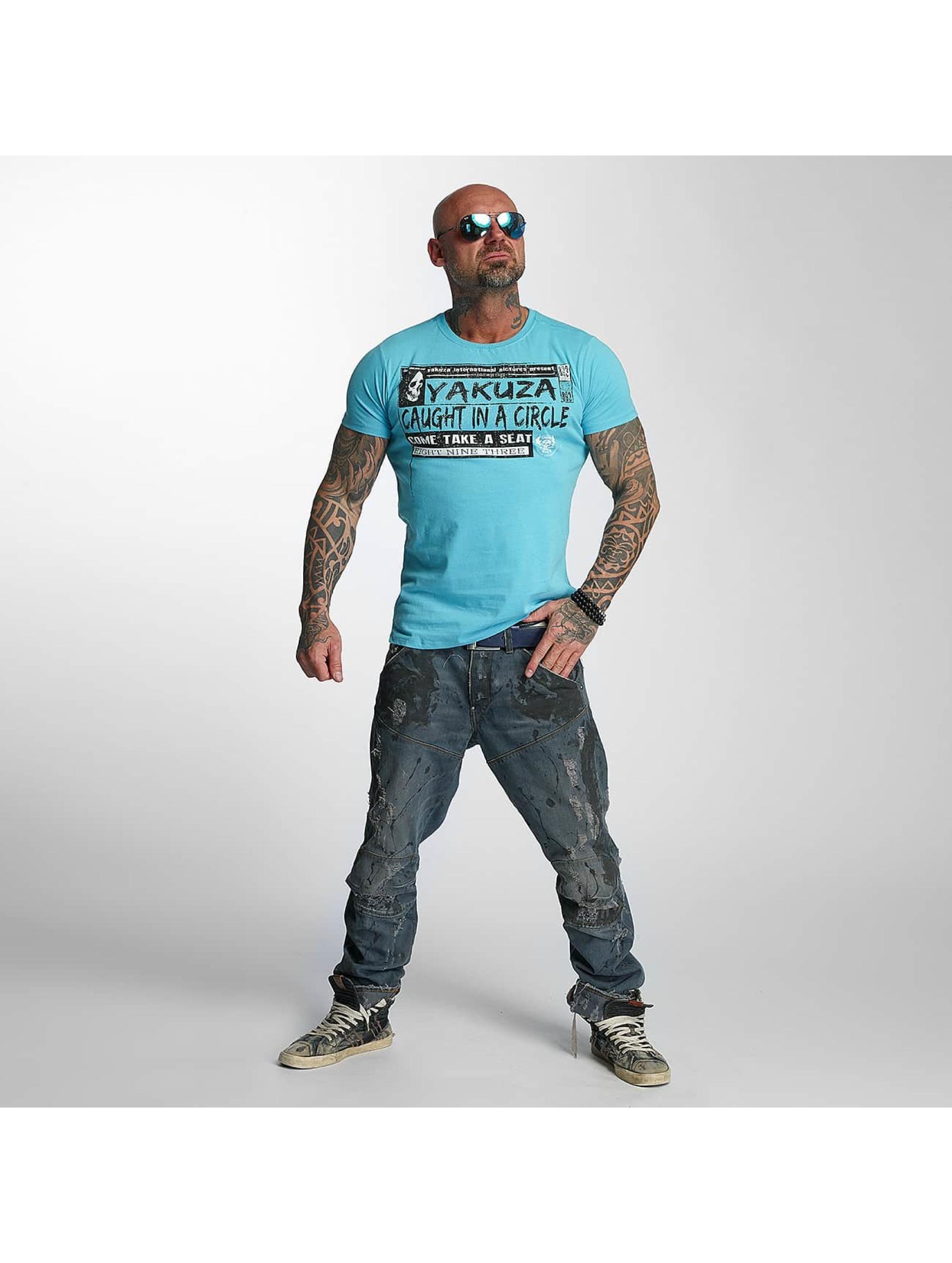Yakuza T-skjorter Take A Seat blå