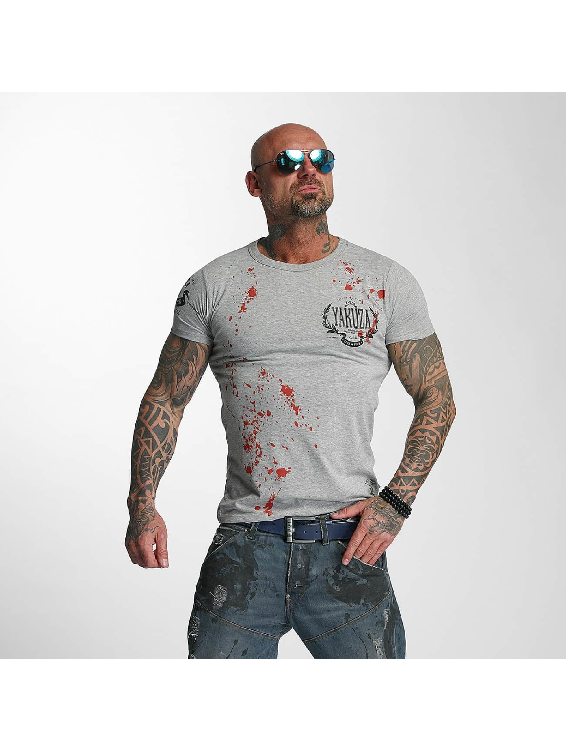 Yakuza T-skjorter Killed By Fame grå