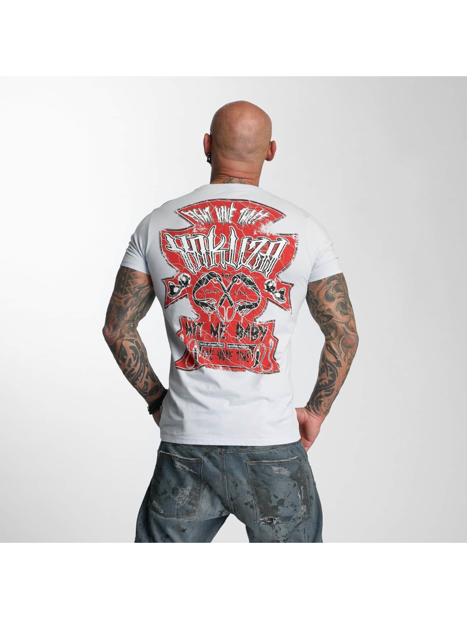 Yakuza T-skjorter Hit Me grå