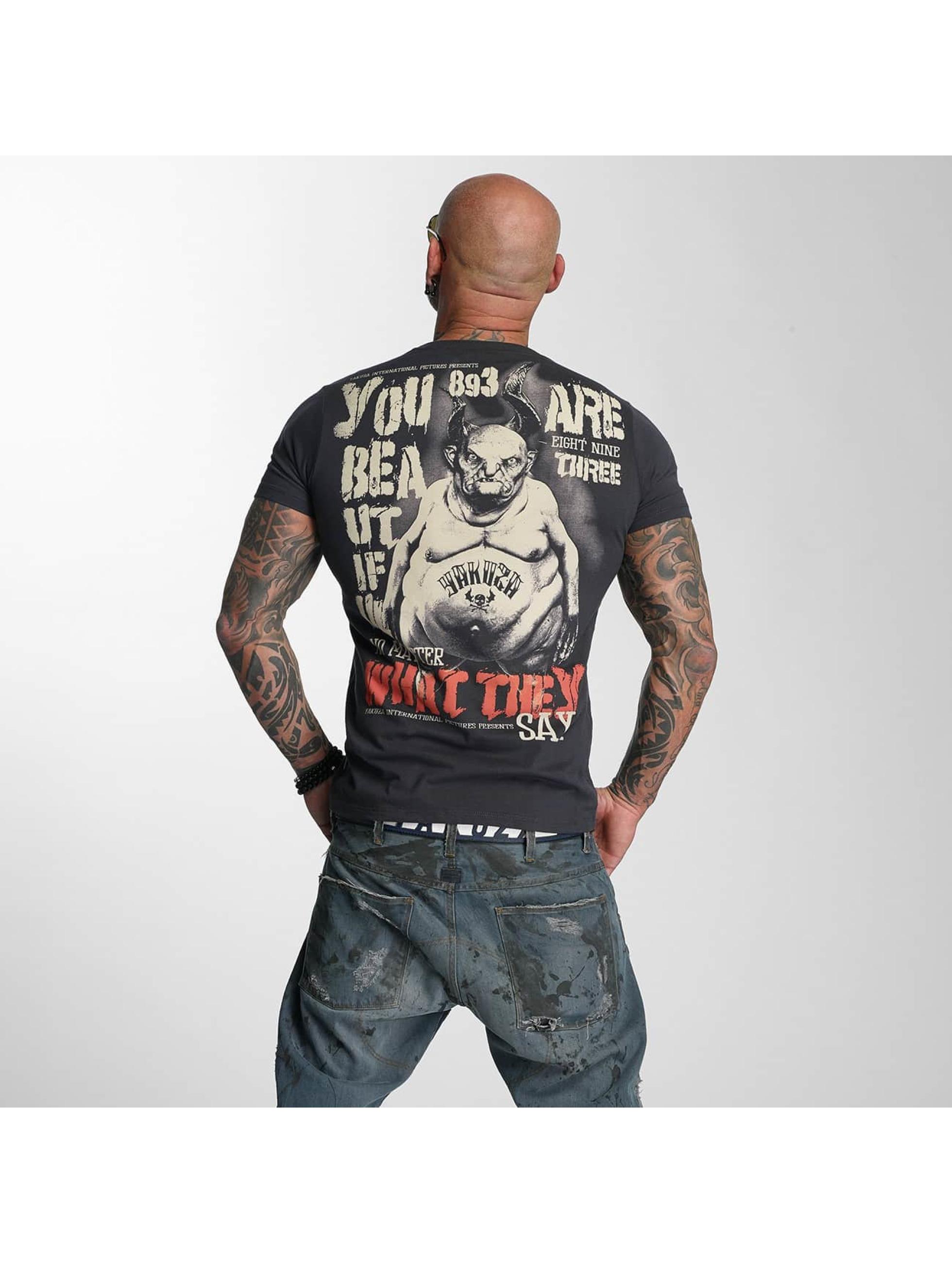 Yakuza T-skjorter U R Beautiful grå