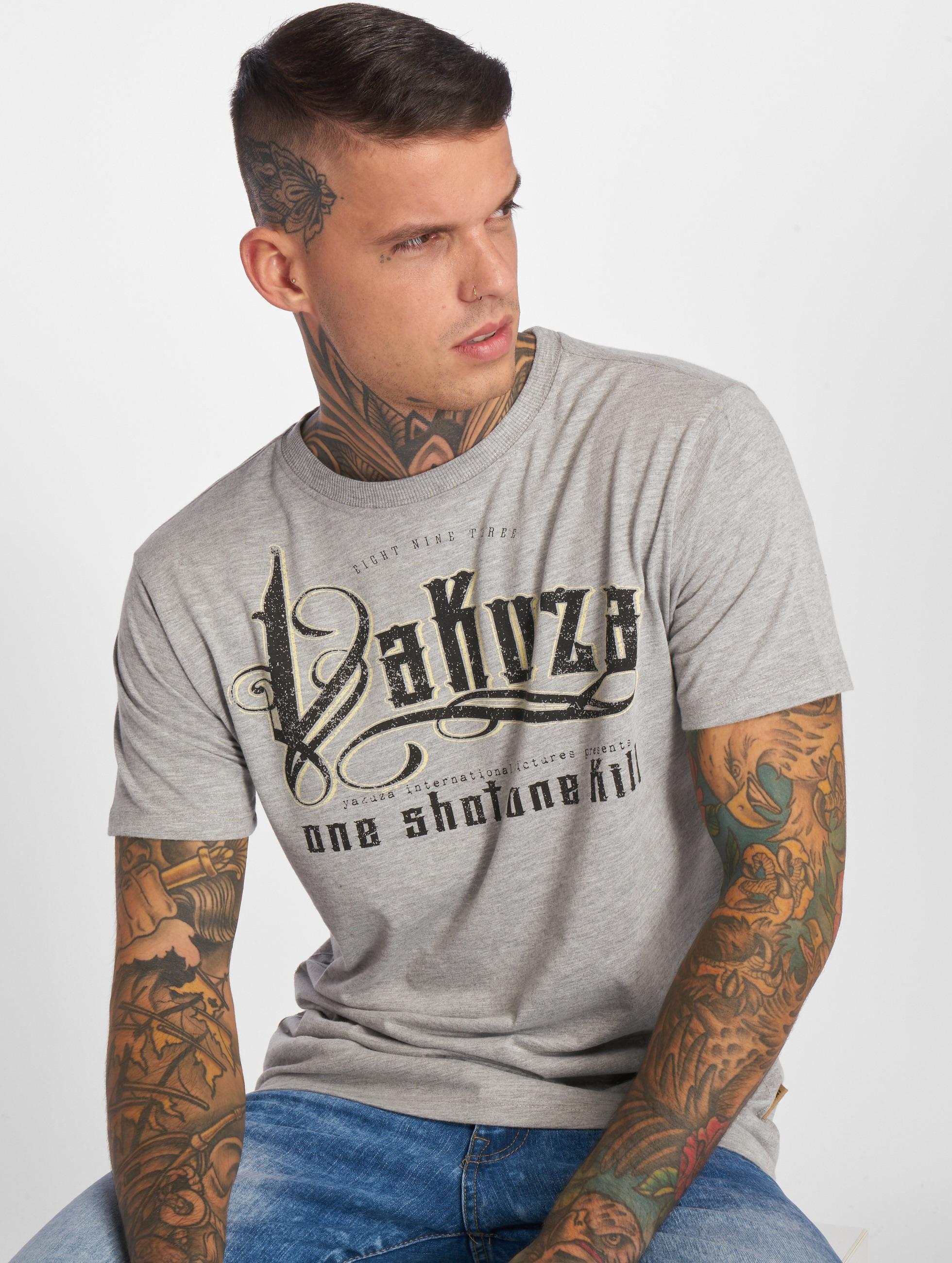 Yakuza T-skjorter One Shot grå