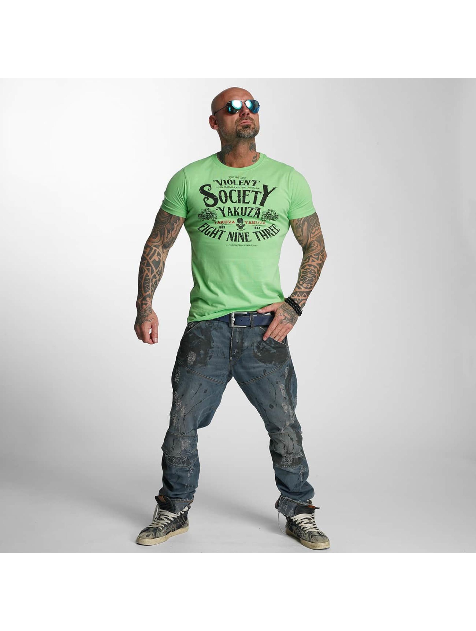 Yakuza T-skjorter Violent Society grøn