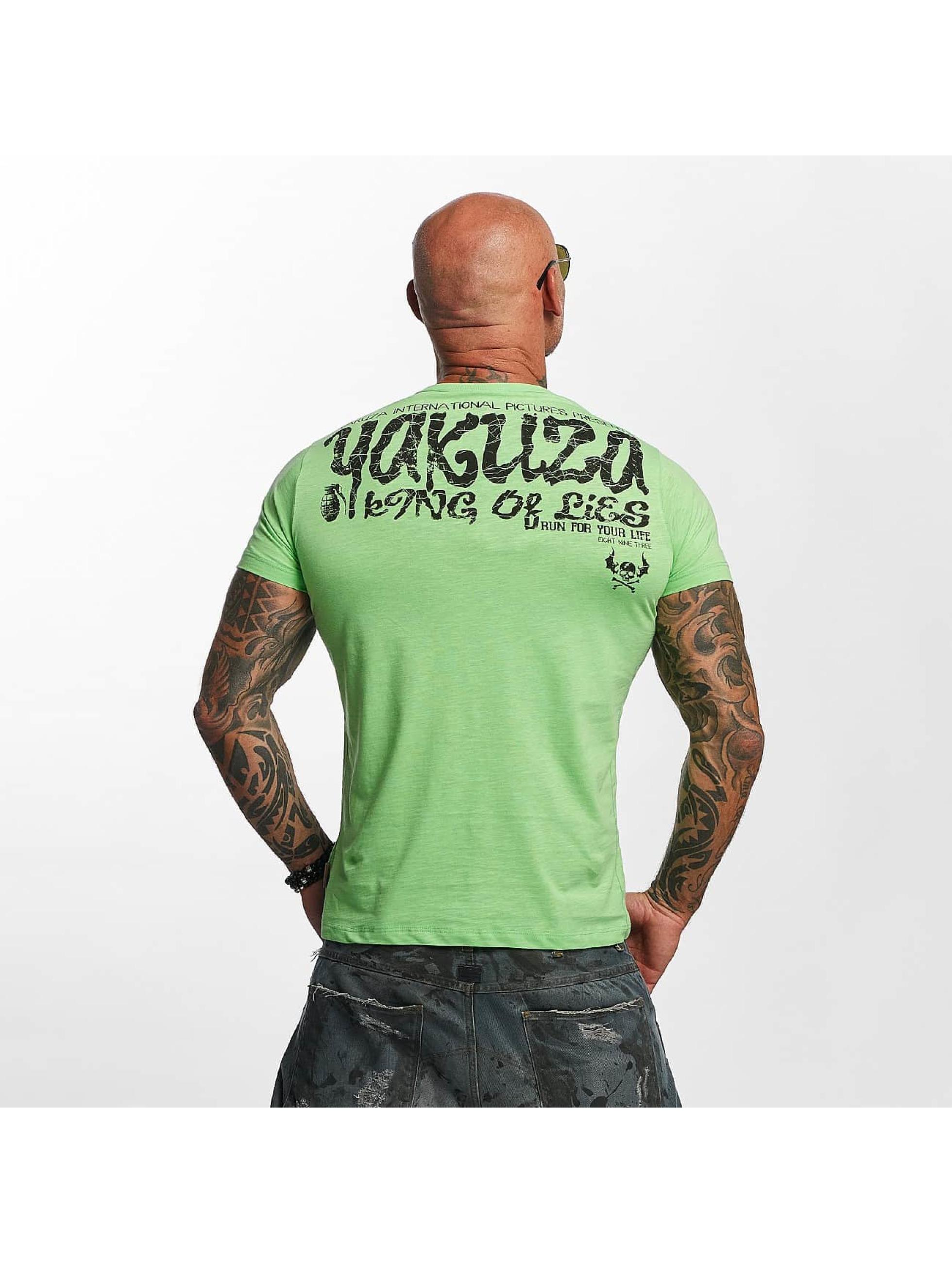 Yakuza T-skjorter King Of Lies grøn