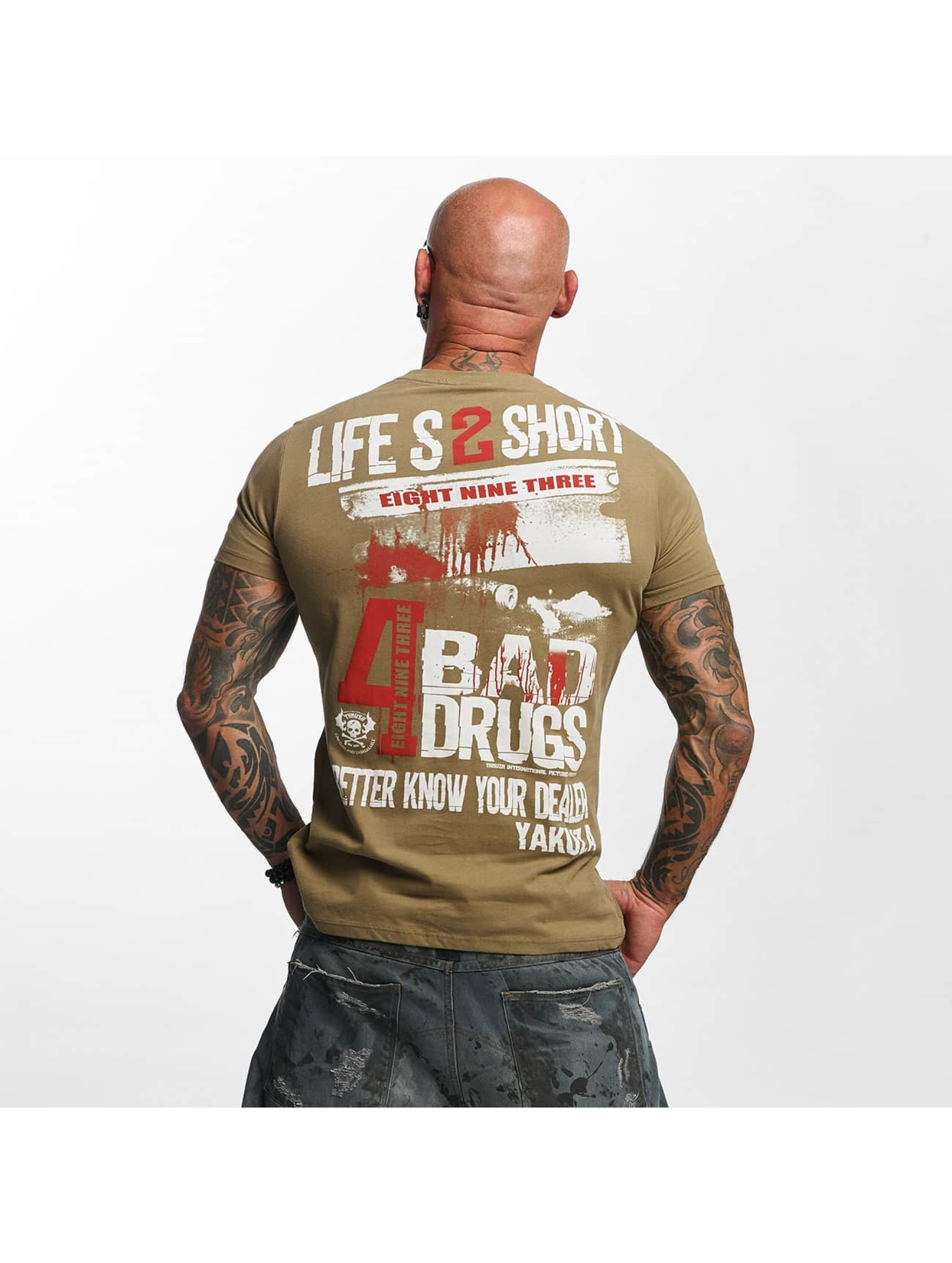 Yakuza T-skjorter Know Your Dealer grøn