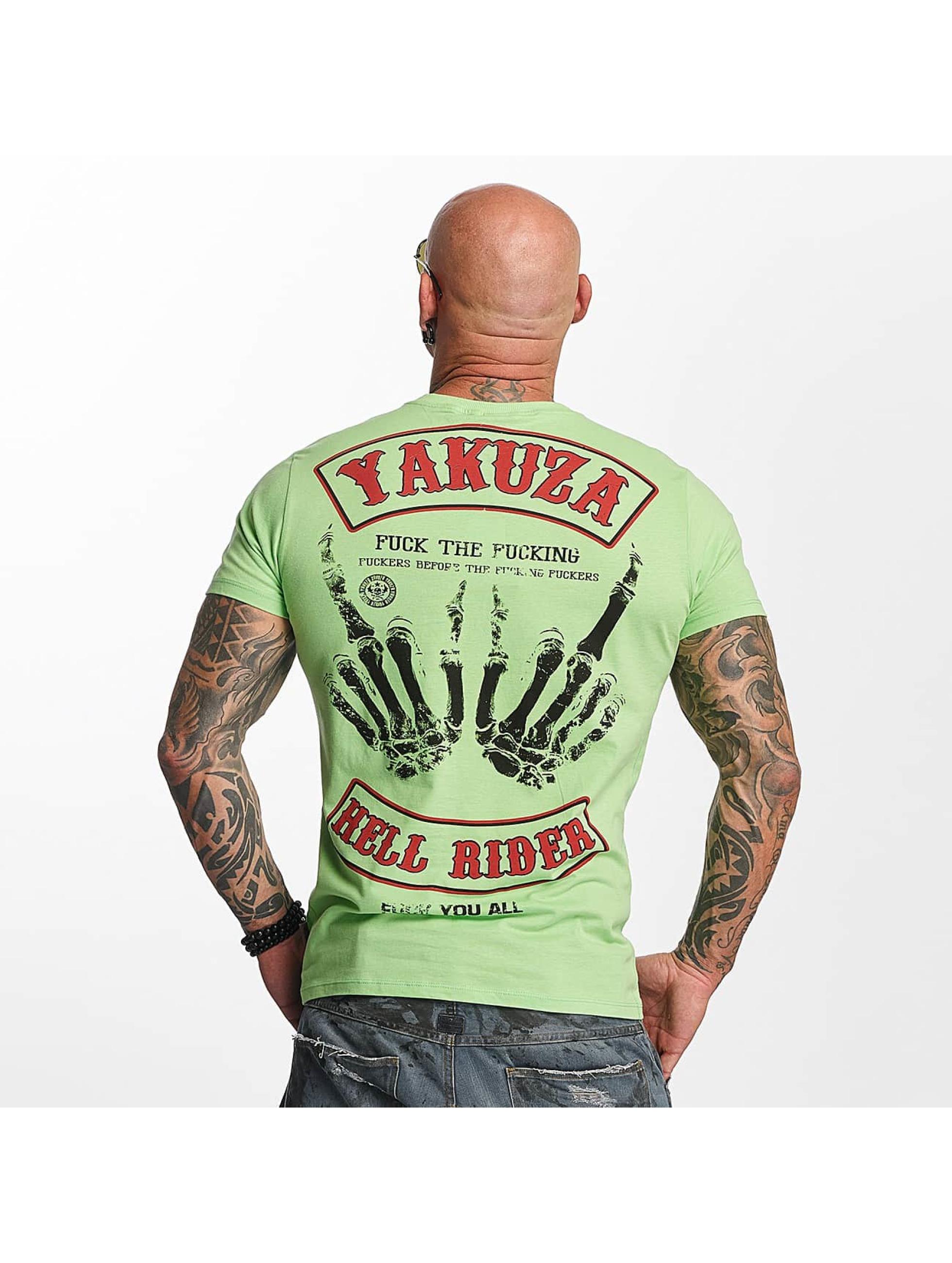 Yakuza T-skjorter Hell Rider grøn