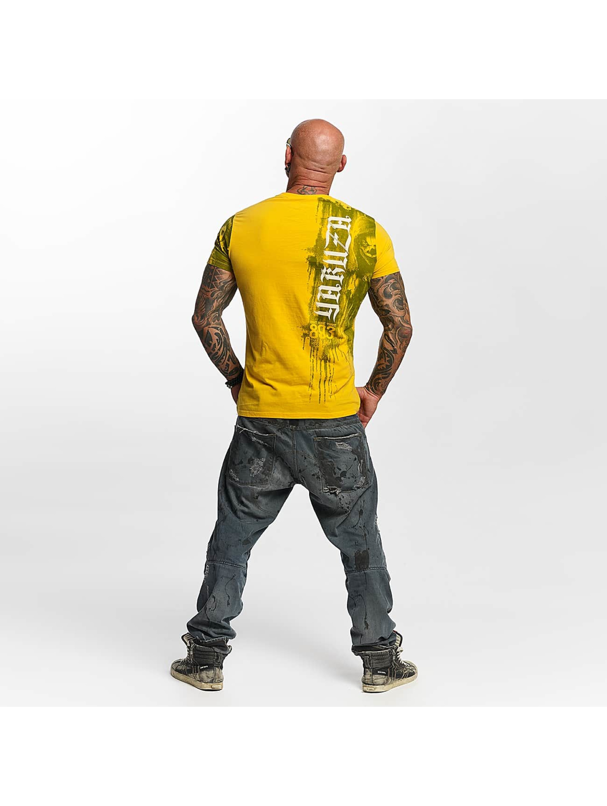 Yakuza T-skjorter Waiting Death gul