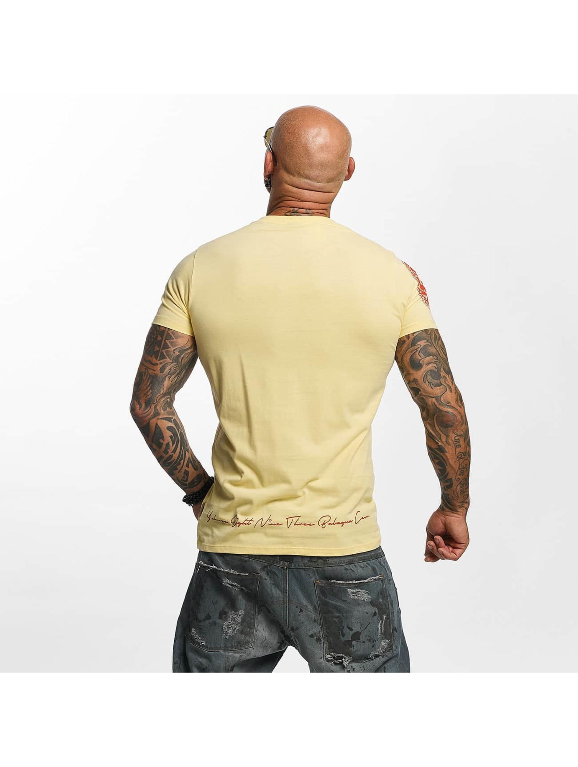 Yakuza T-skjorter Daily Skull gul