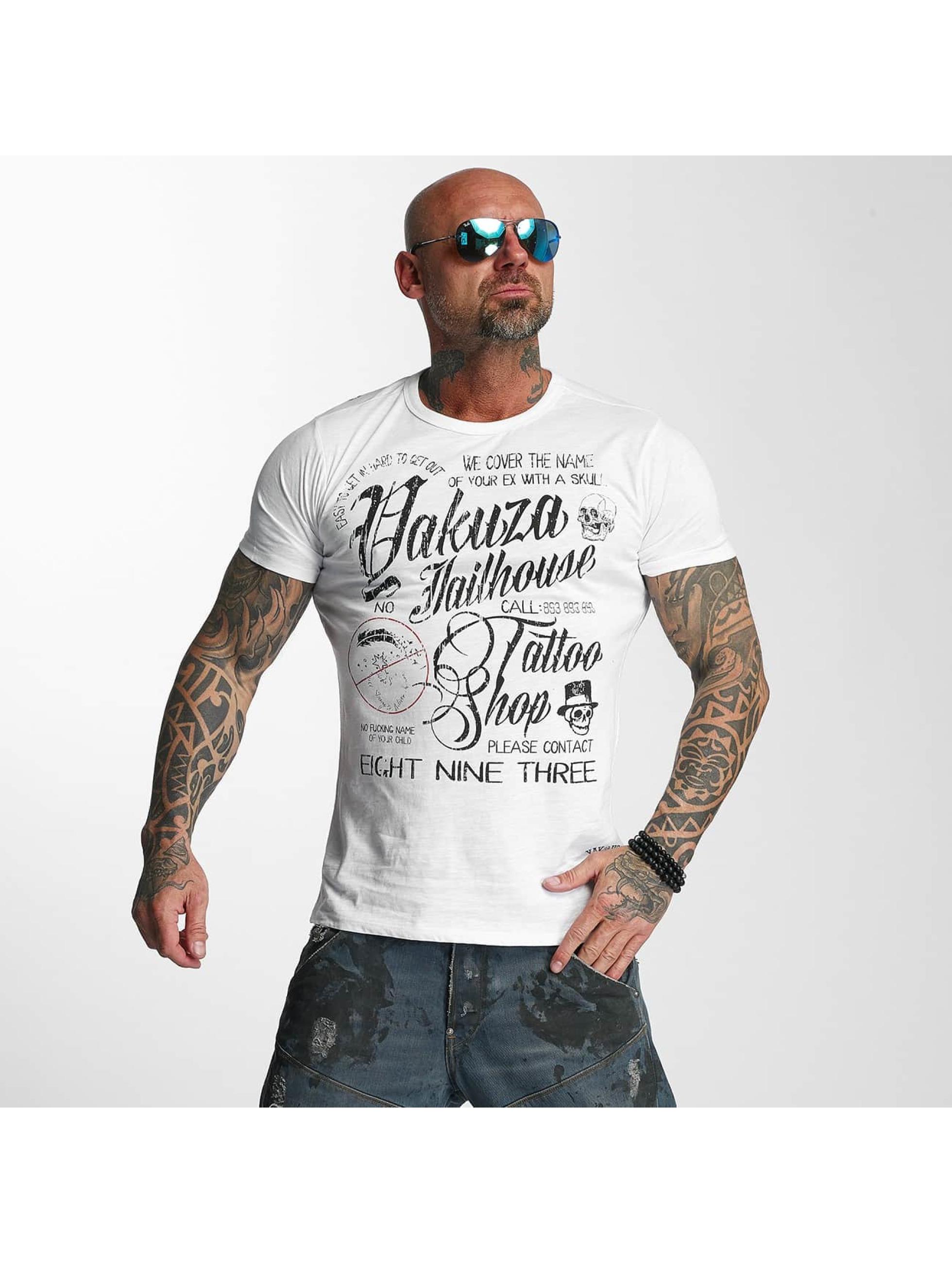 Yakuza T-skjorter Jailhouse hvit