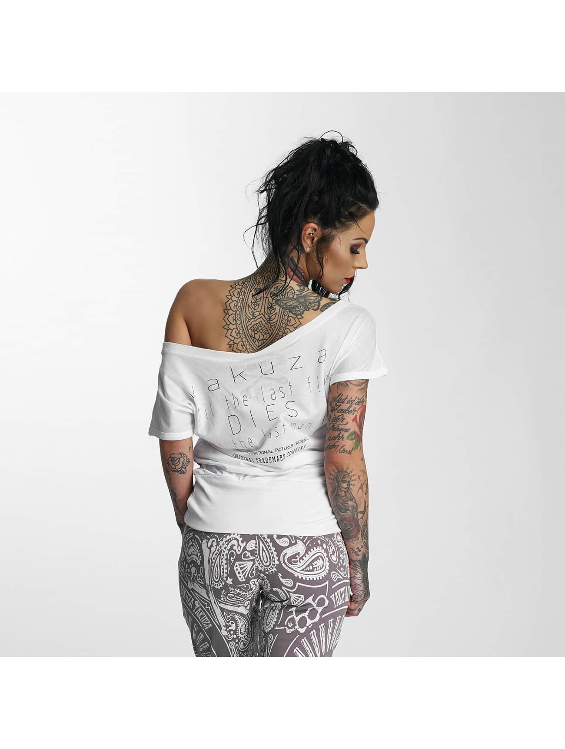 Yakuza T-skjorter Respirator hvit