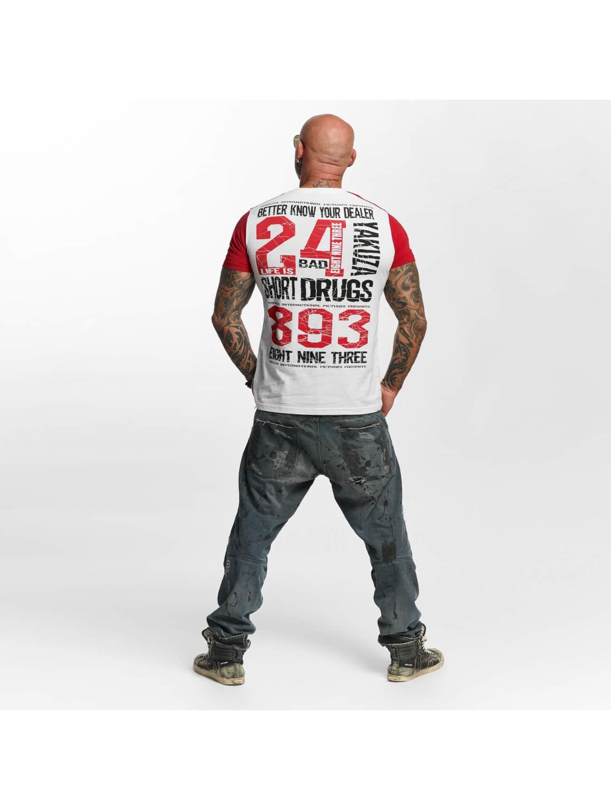 Yakuza T-skjorter Know Your Dealer II hvit