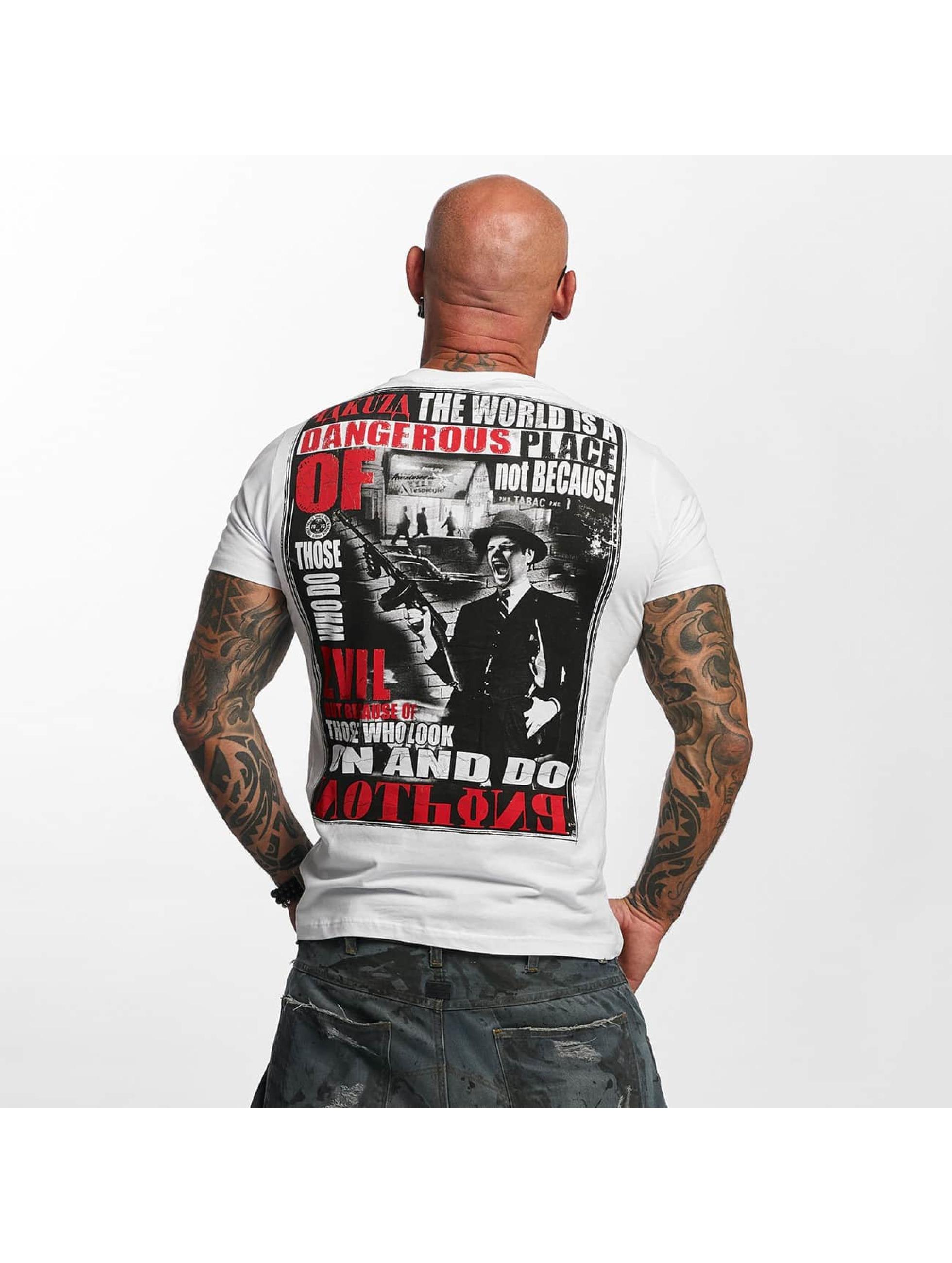 Yakuza T-skjorter Dangerous Place hvit