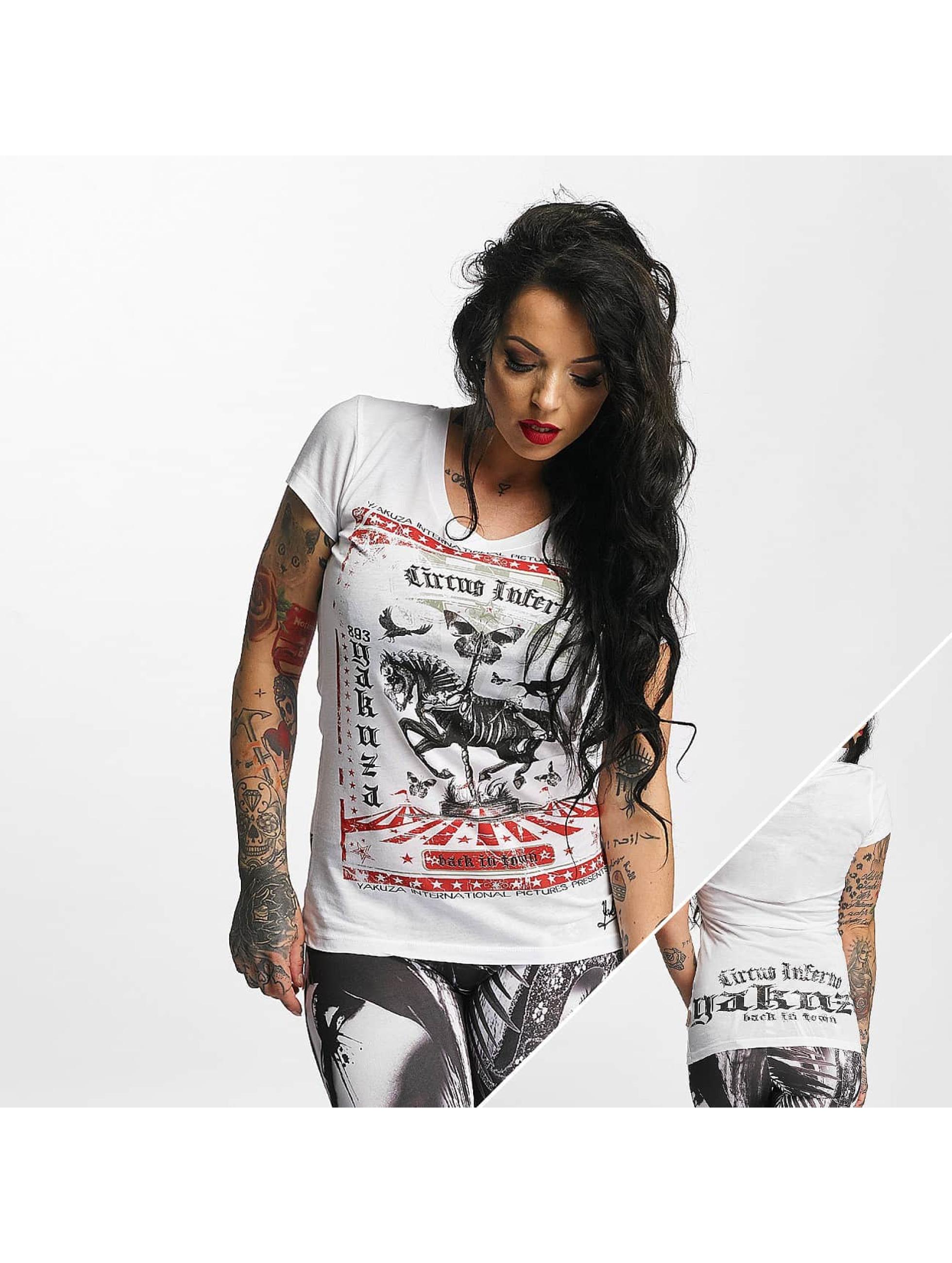 Yakuza T-skjorter Circus Inferno hvit