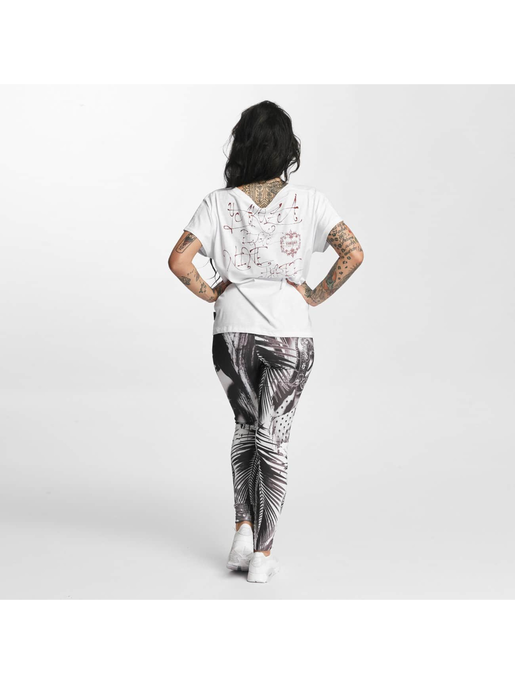 Yakuza T-skjorter Dead Swan Cropped hvit