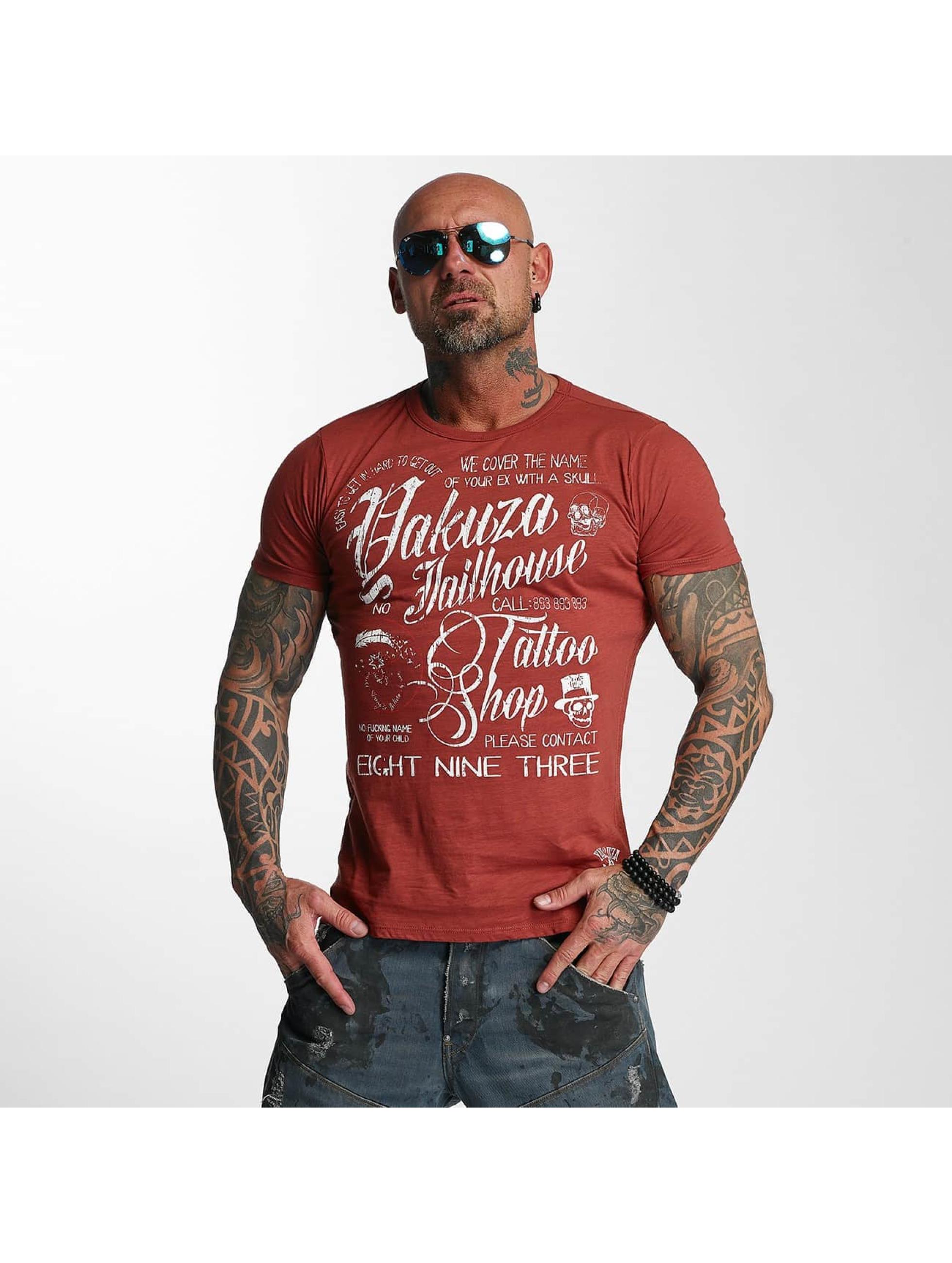 Yakuza T-skjorter Jailhouse red