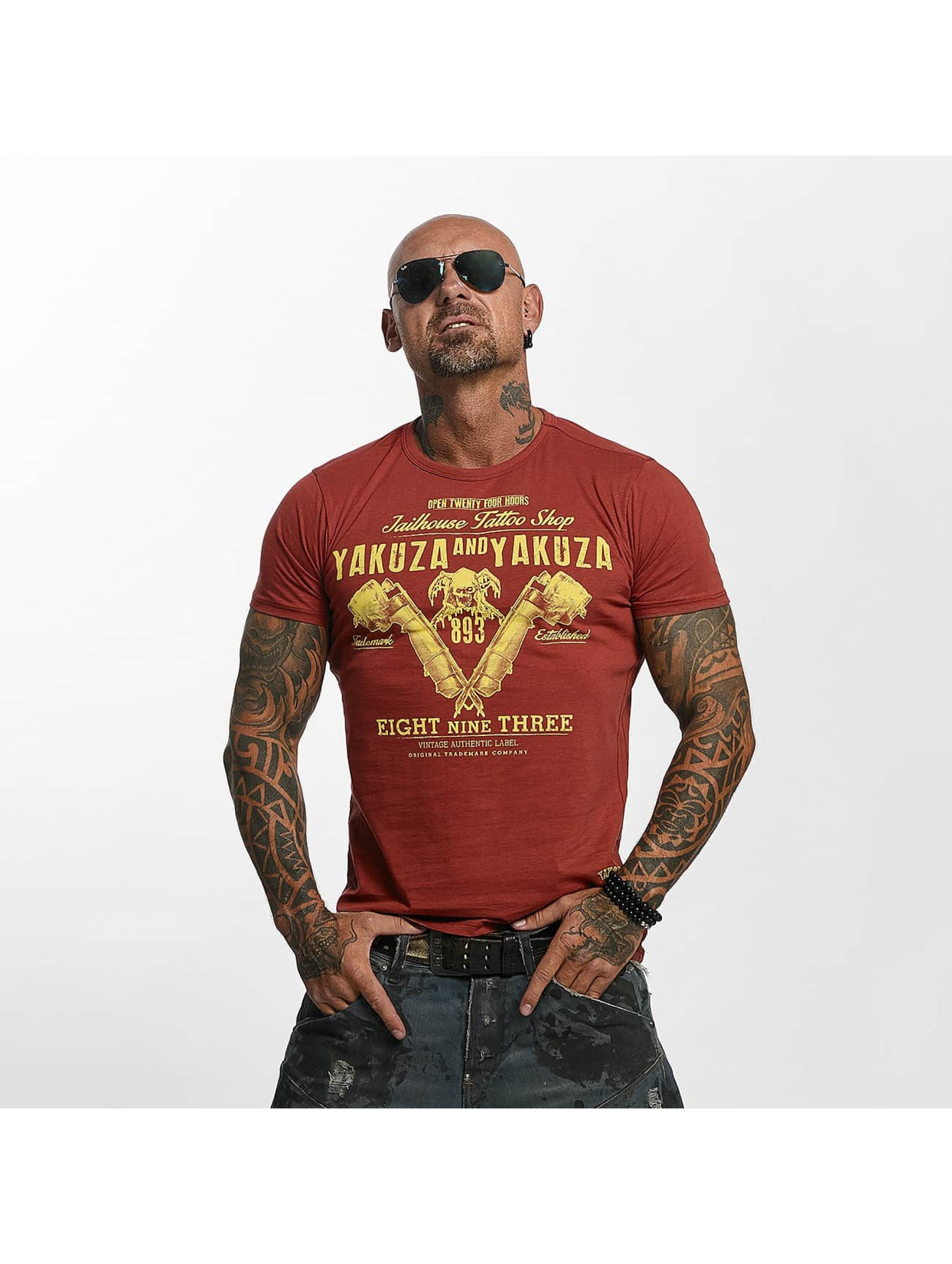 Yakuza T-skjorter Tattoo Shop red