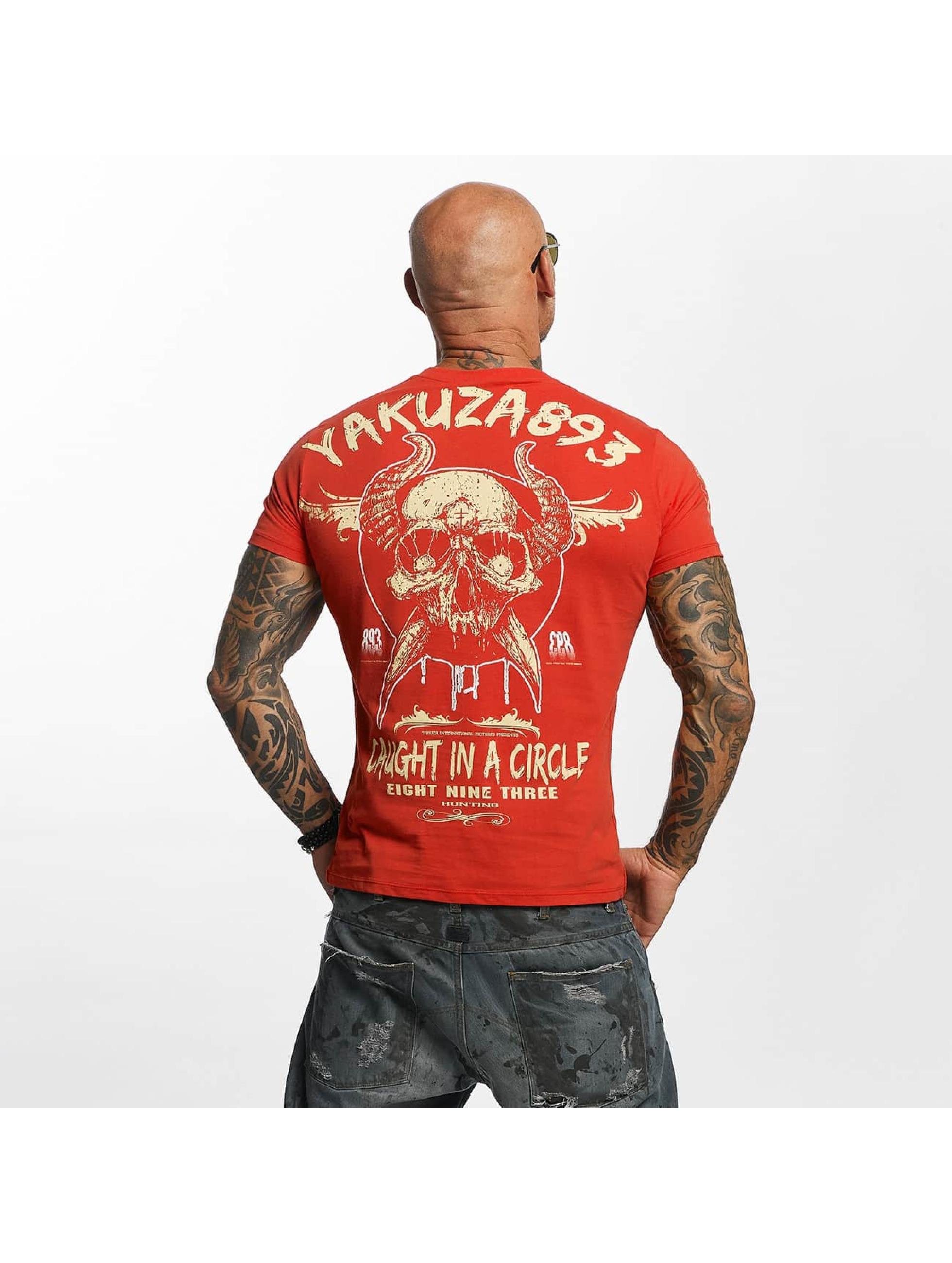 Yakuza T-skjorter Caught In A Circle red