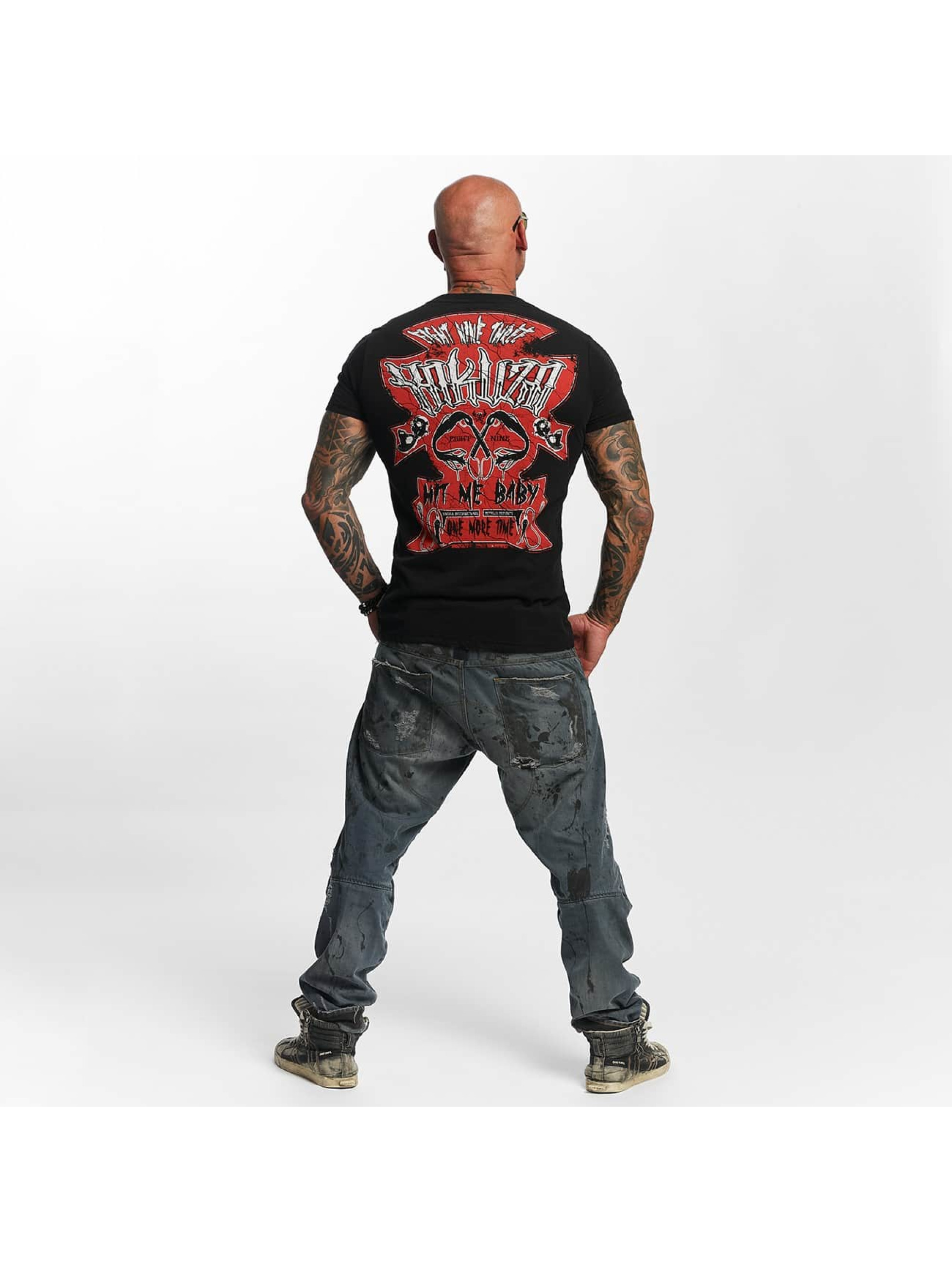 Yakuza T-skjorter Hit Me svart