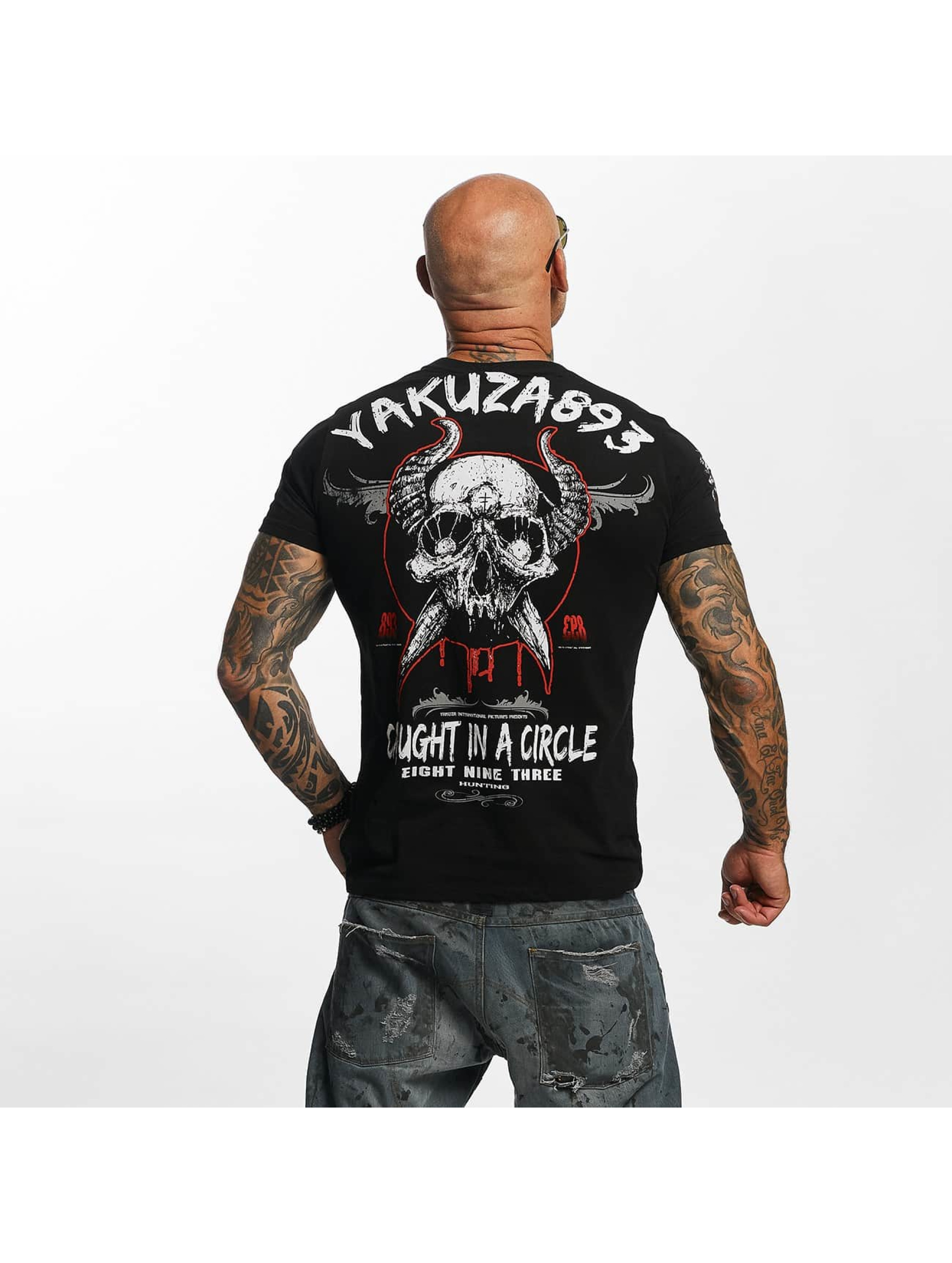 Yakuza T-skjorter Caught In A Circle svart