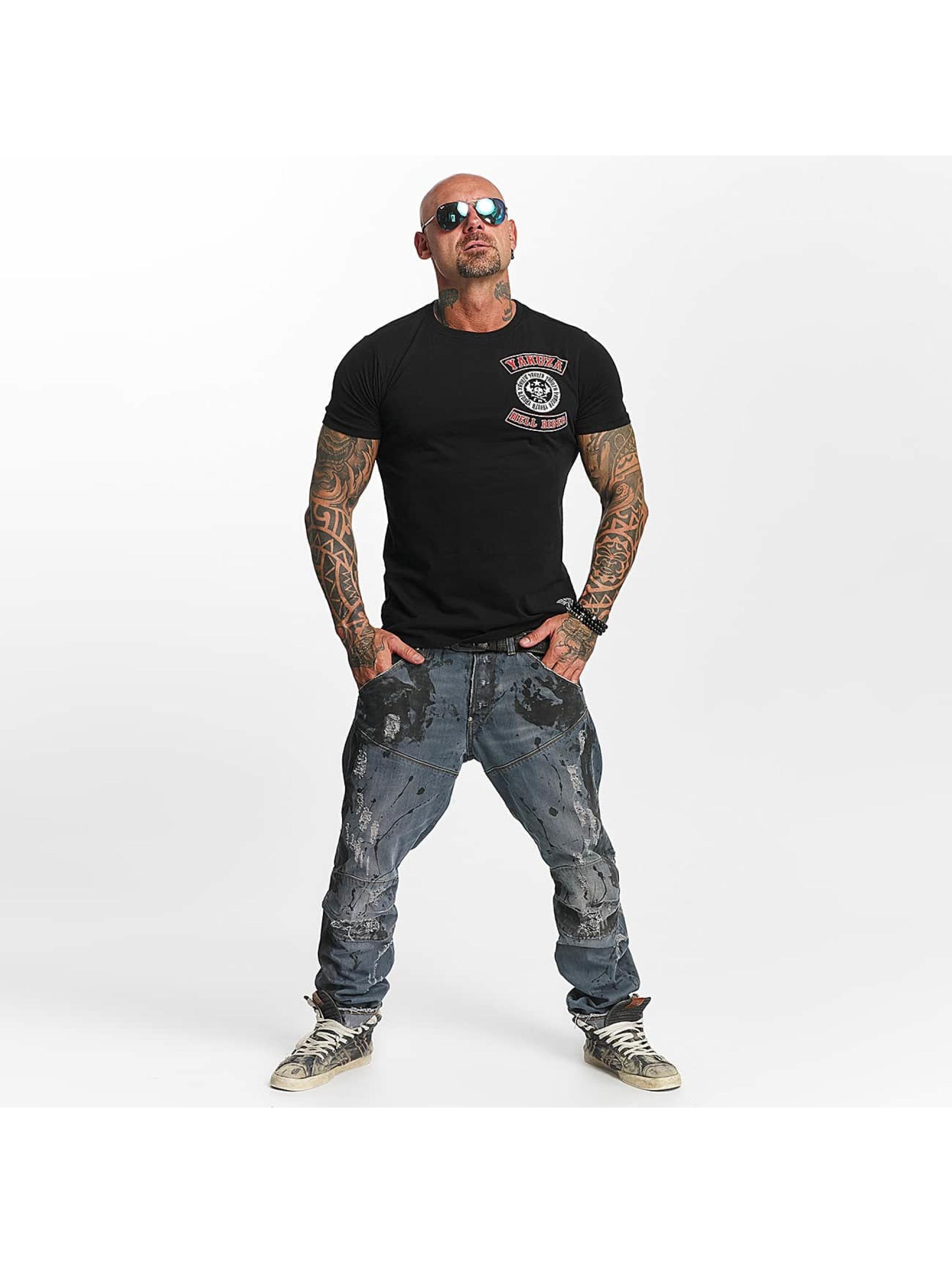 Yakuza T-skjorter Hell Rider svart