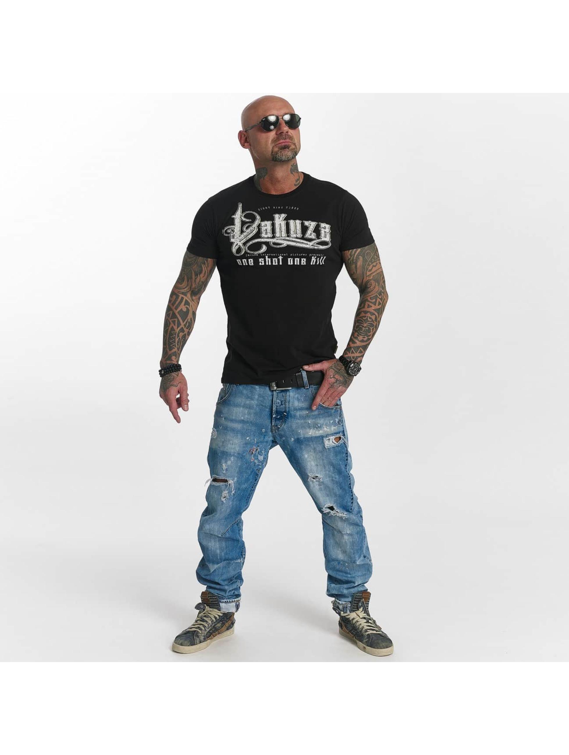 Yakuza T-skjorter One Shot svart