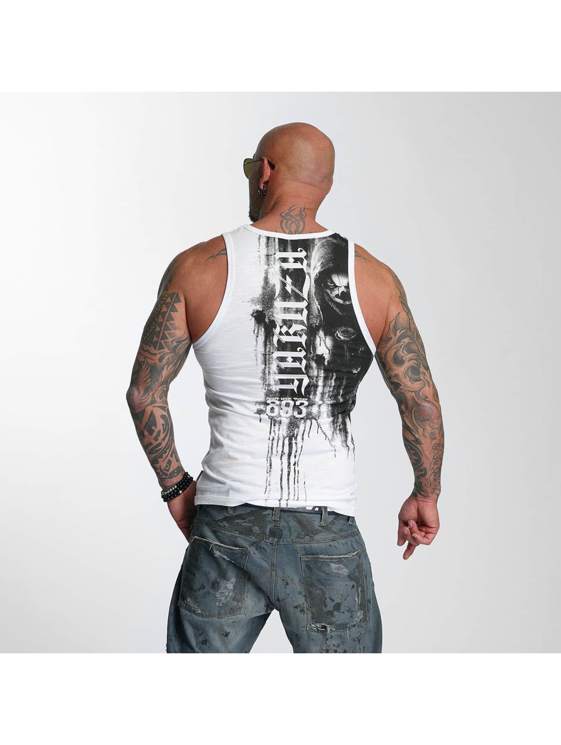 Yakuza Tank Tops Waiting Death hvit