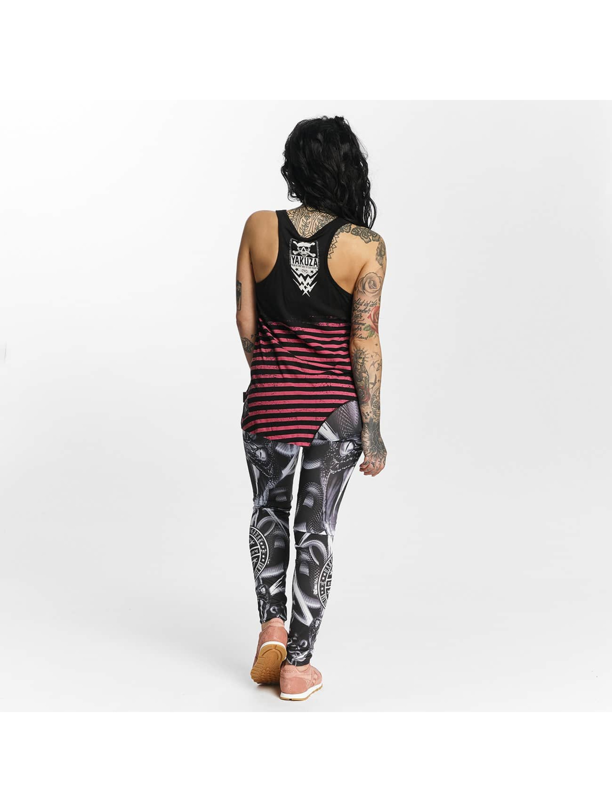 Yakuza Tank Tops Stripes Urban musta