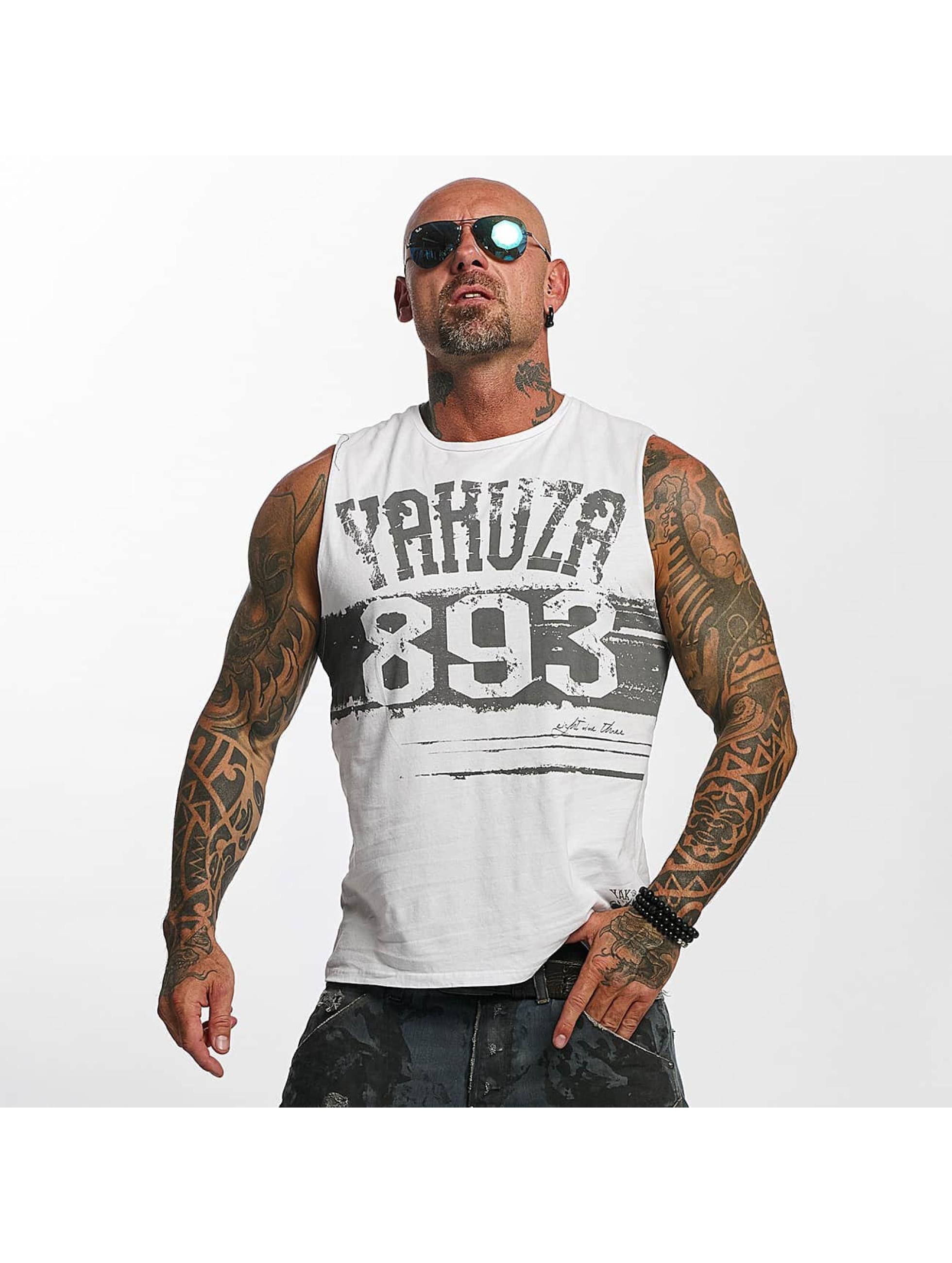 Yakuza Tank Tops Yent Trucker weiß
