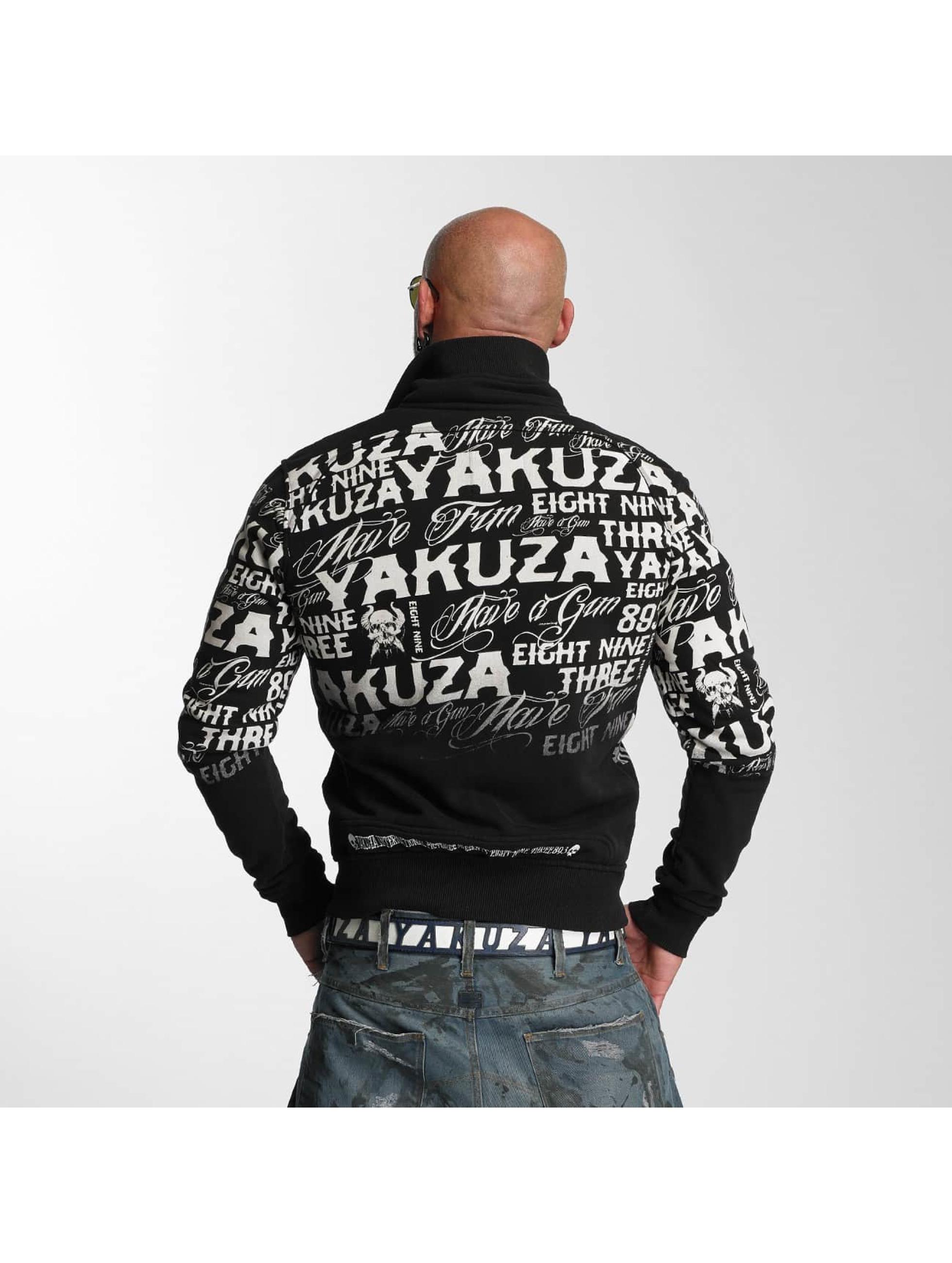 Yakuza Übergangsjacke Allover Label schwarz