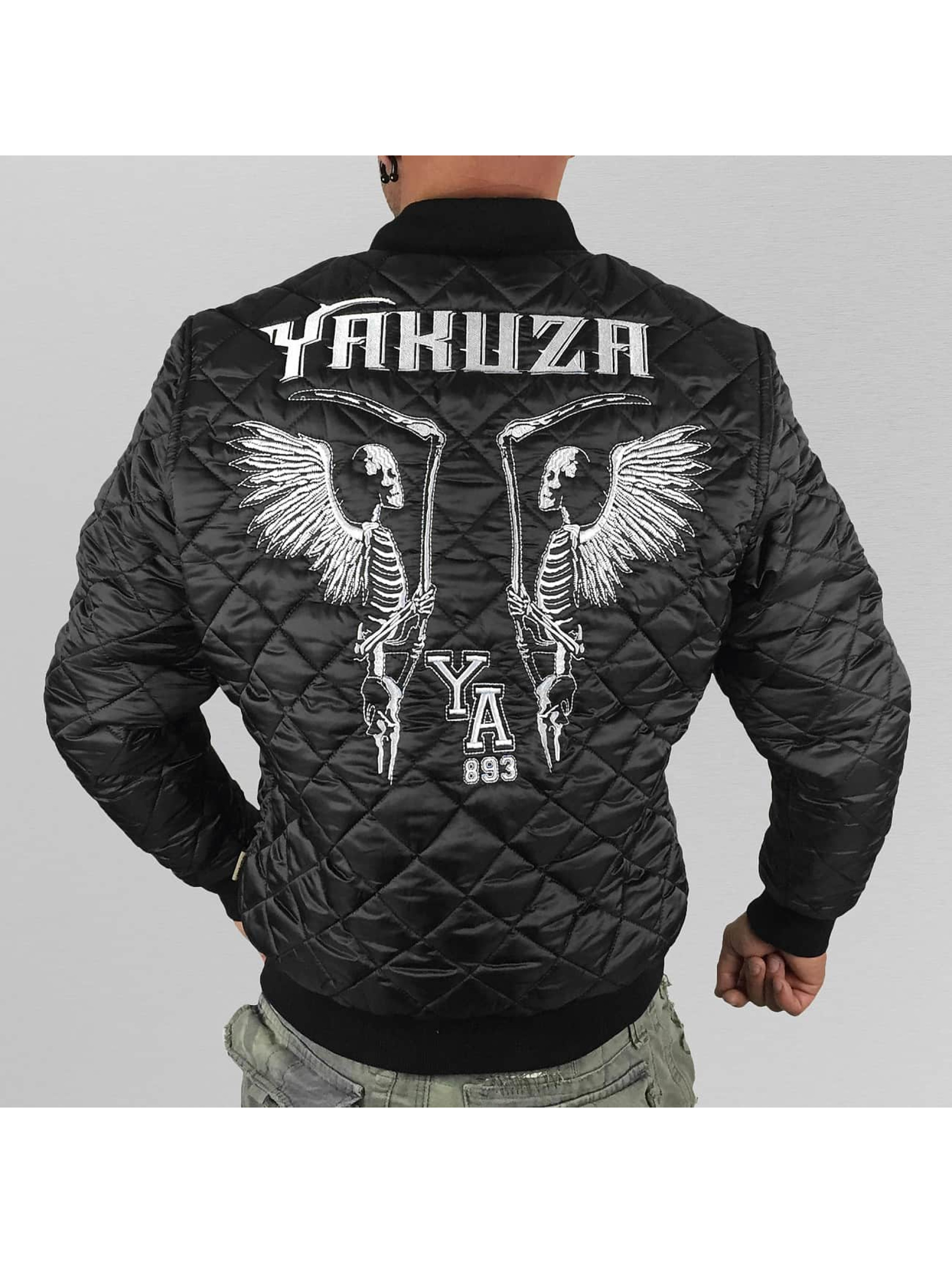 Yakuza Välikausitakit Skeleton Quilted musta