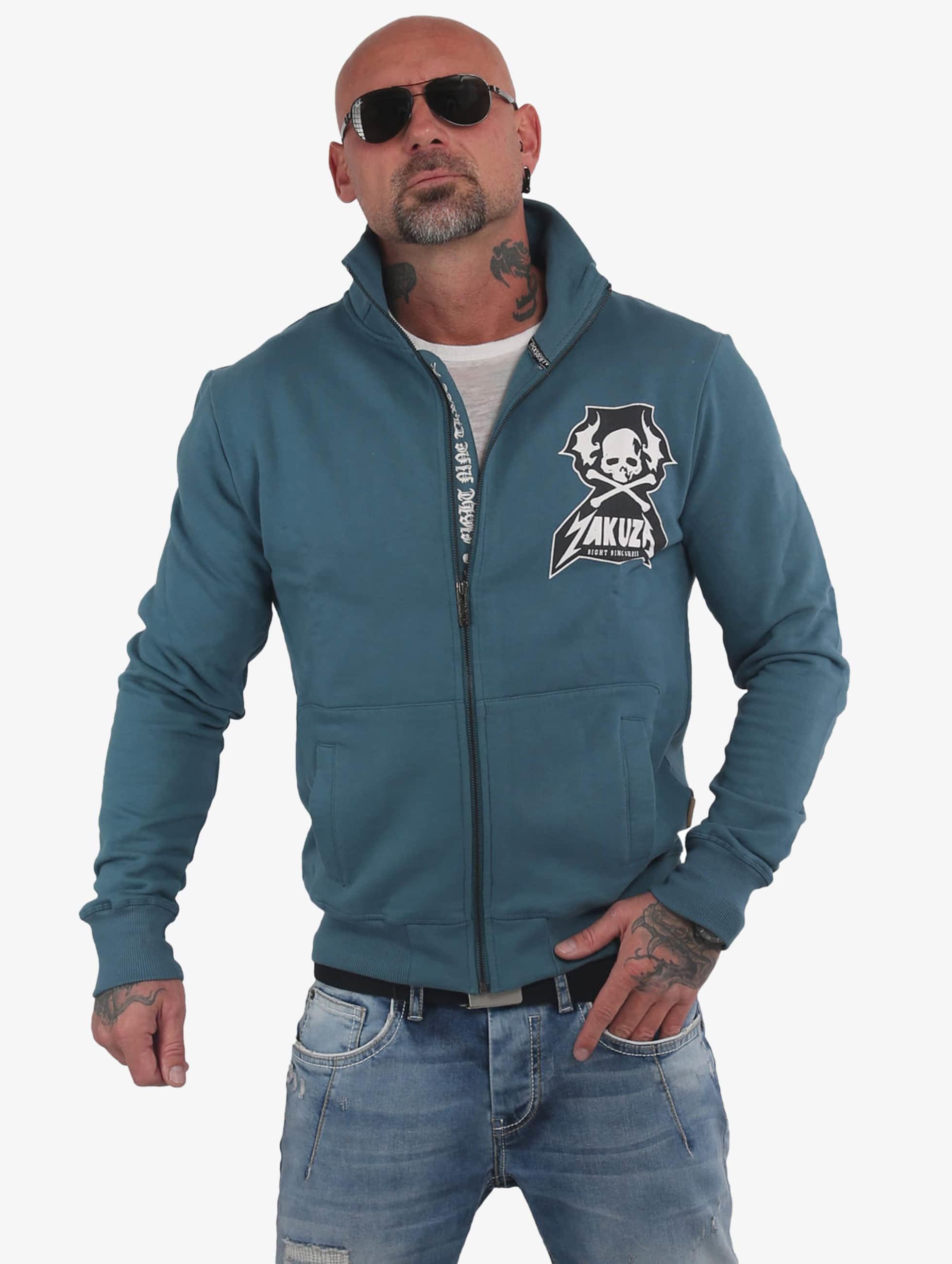 Yakuza Beast Track Top Zip Jacket Mallard Blue