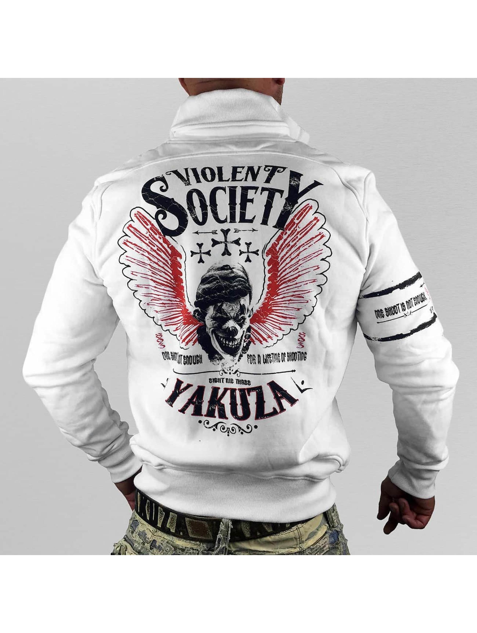 Yakuza Välikausitakit Violent Society valkoinen