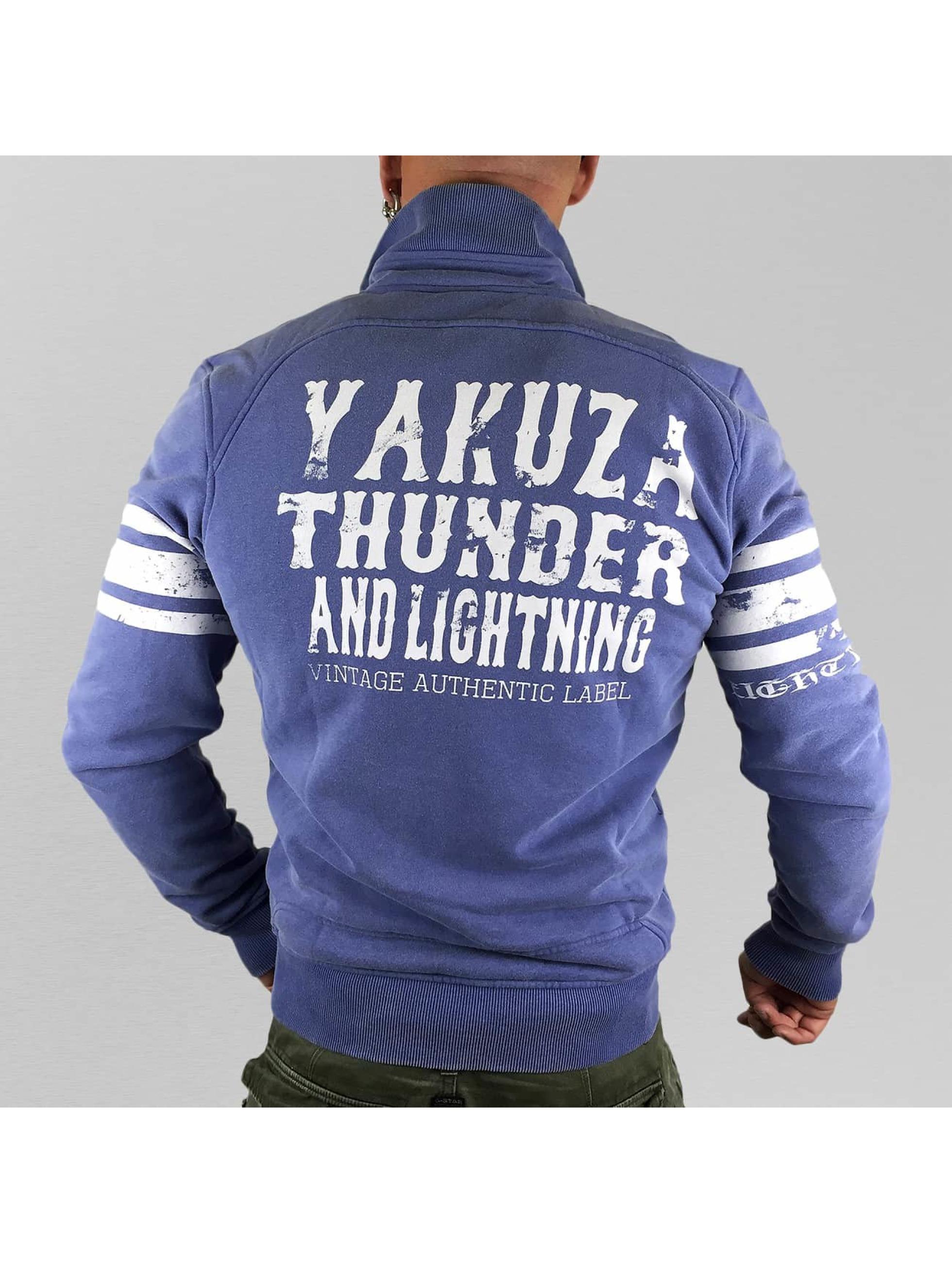 Yakuza Veste mi-saison légère Thunder And Lightning Zipper pourpre