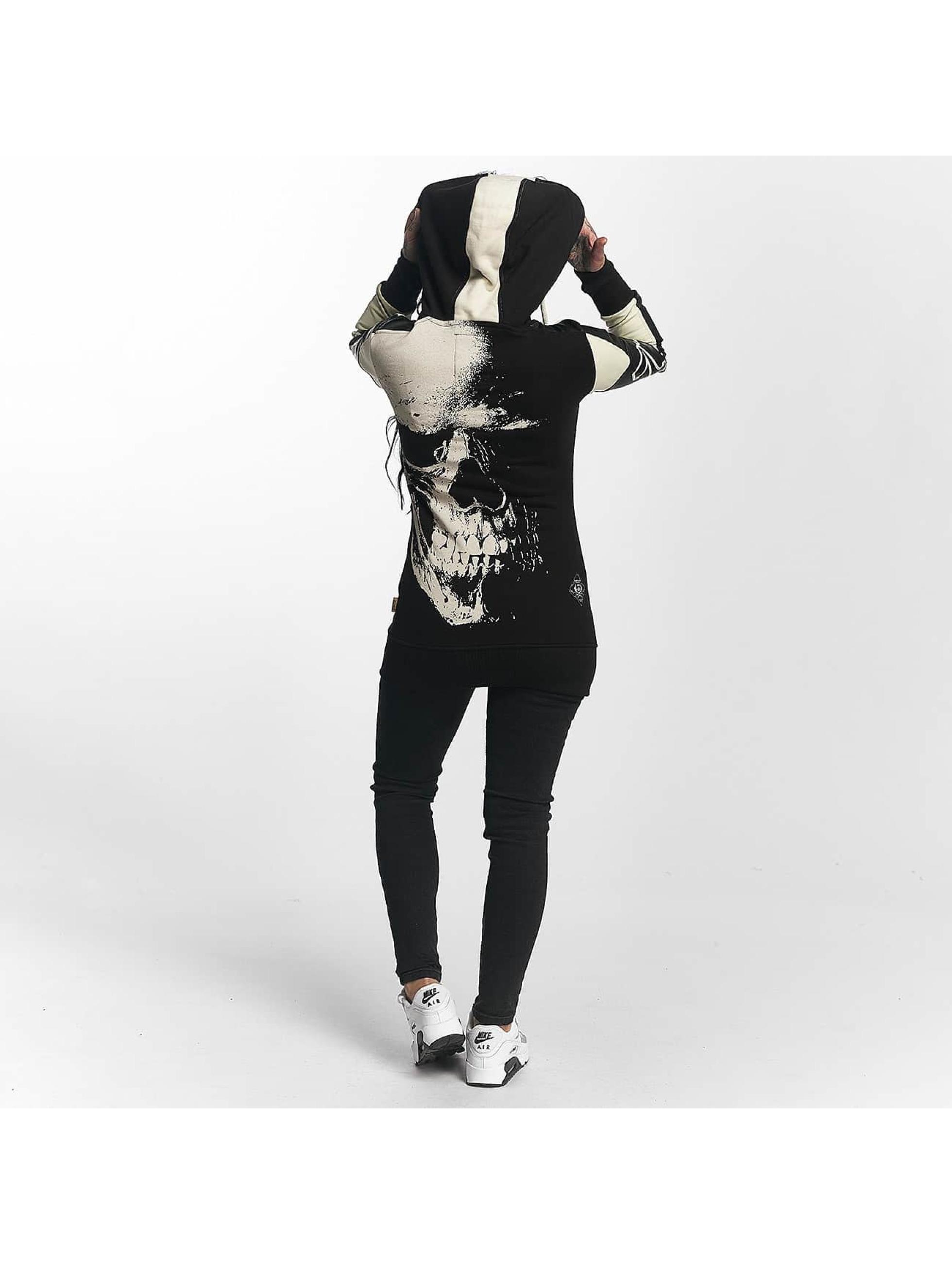 Yakuza Vetoketjuhupparit Skull Mixed musta