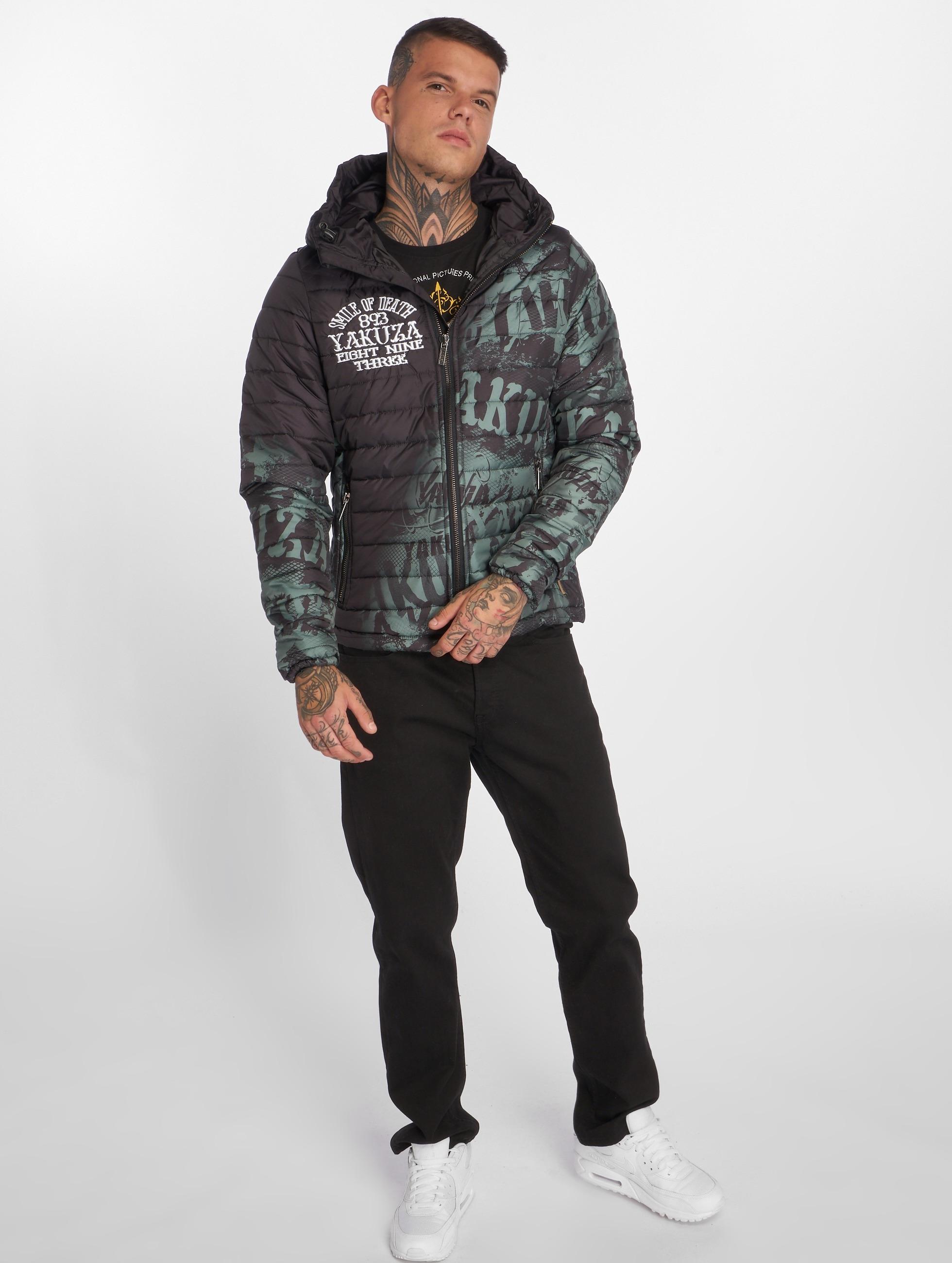 Yakuza Vinterjakke Allover Label Quilted svart