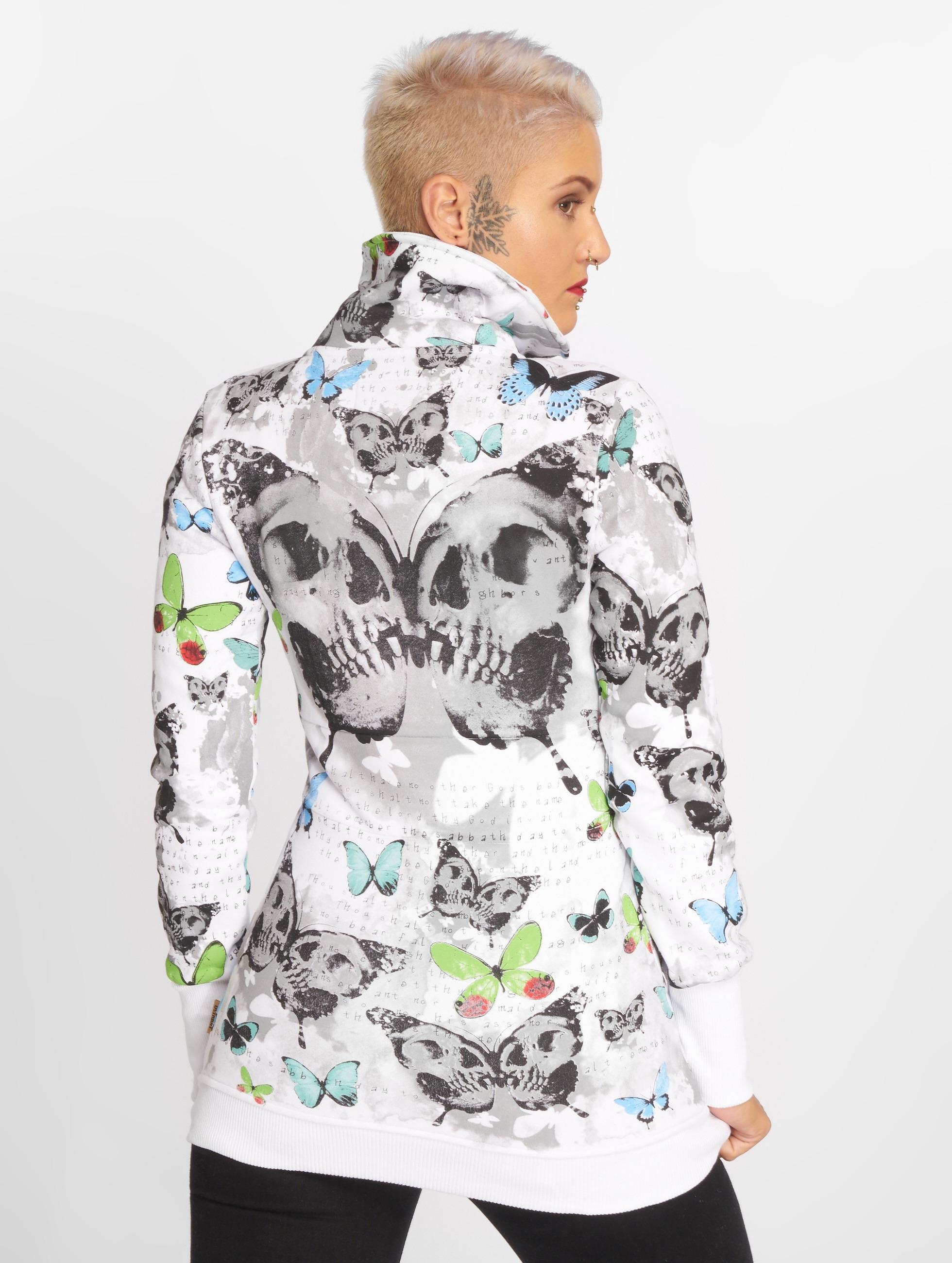 Yakuza Zip Hoodie Butterfly hvid