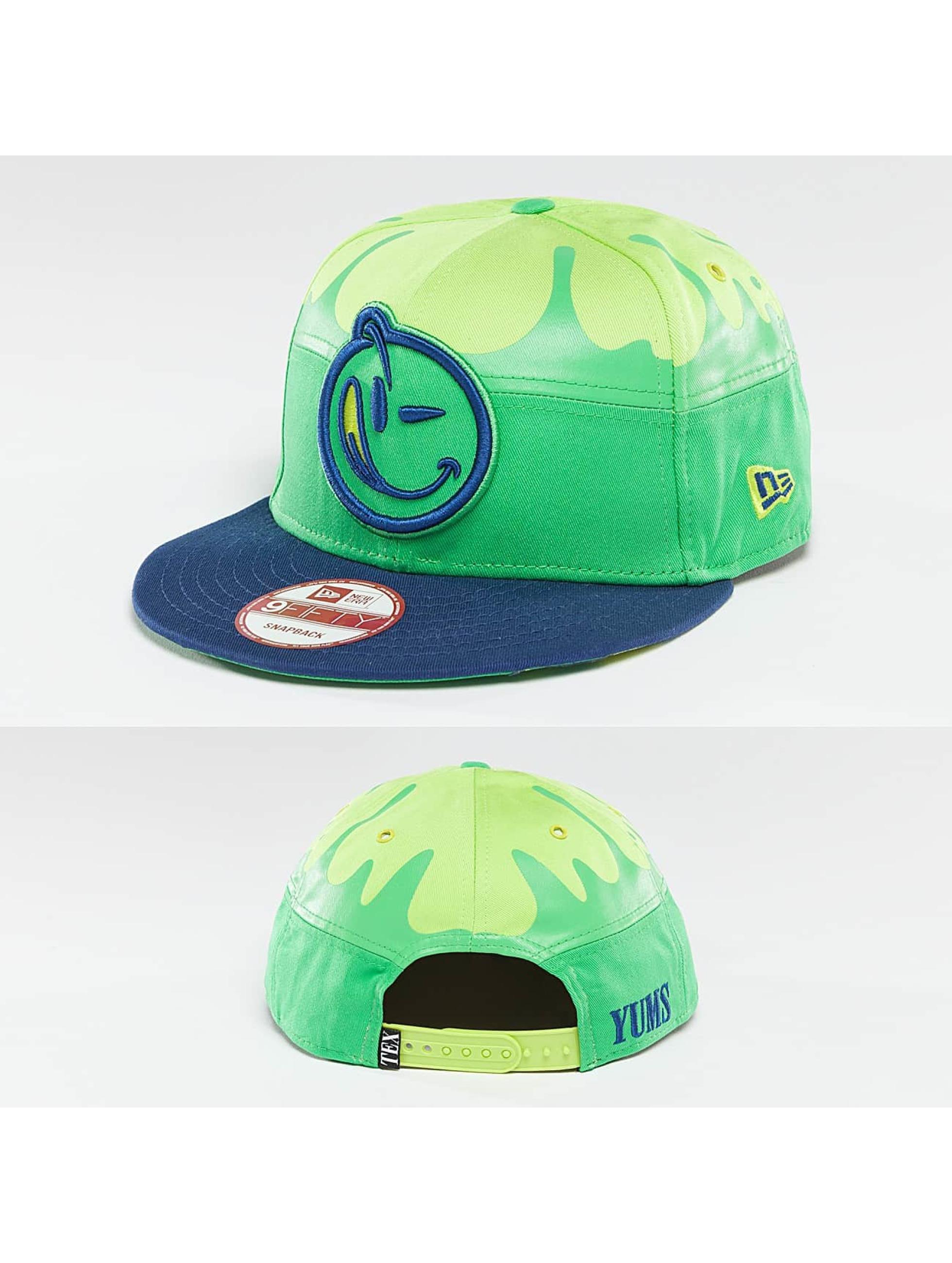 Yums Snapback Cap Fallin Black Tag5 grün