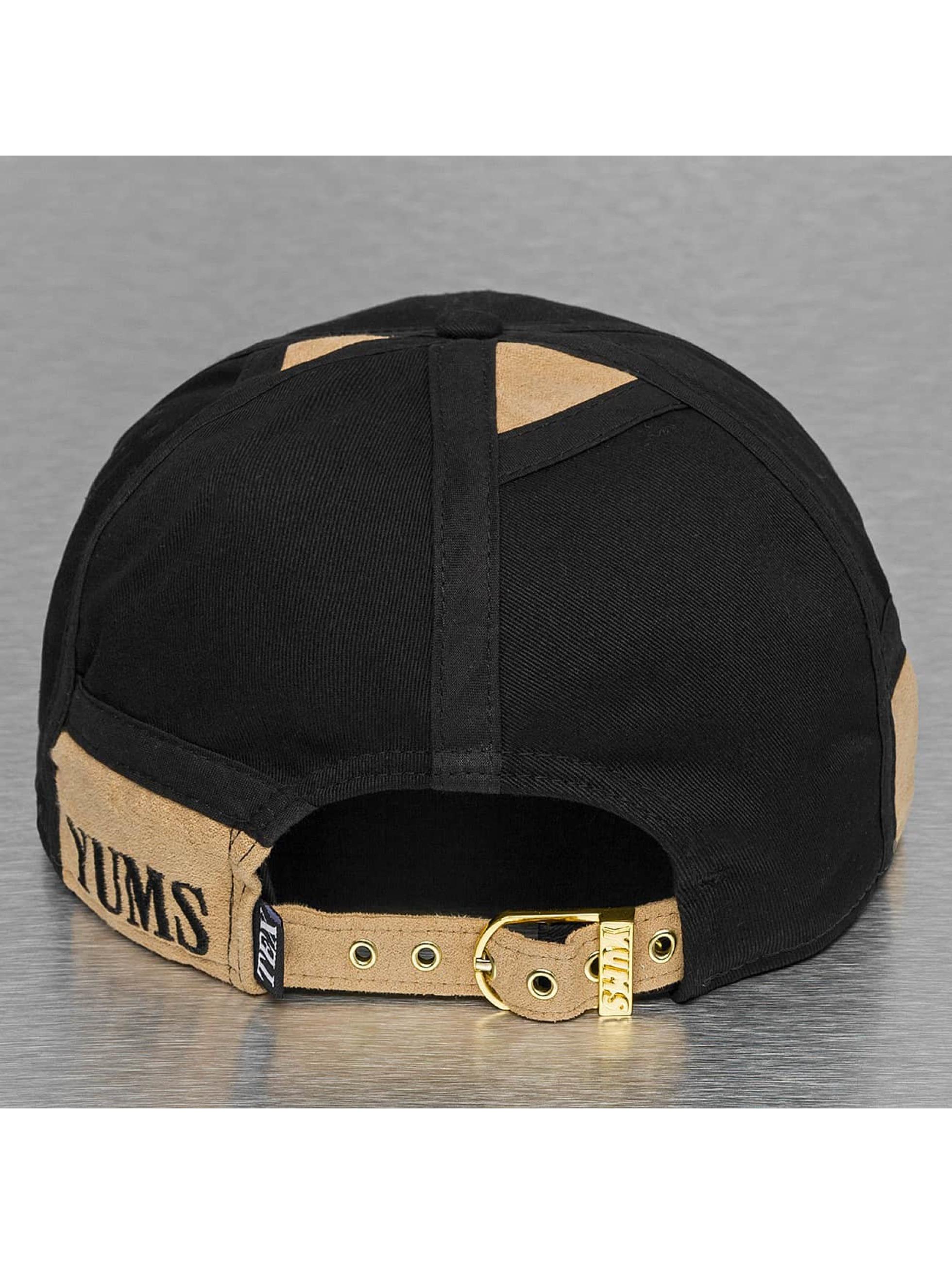 Yums snapback cap LUX Black Tag zwart