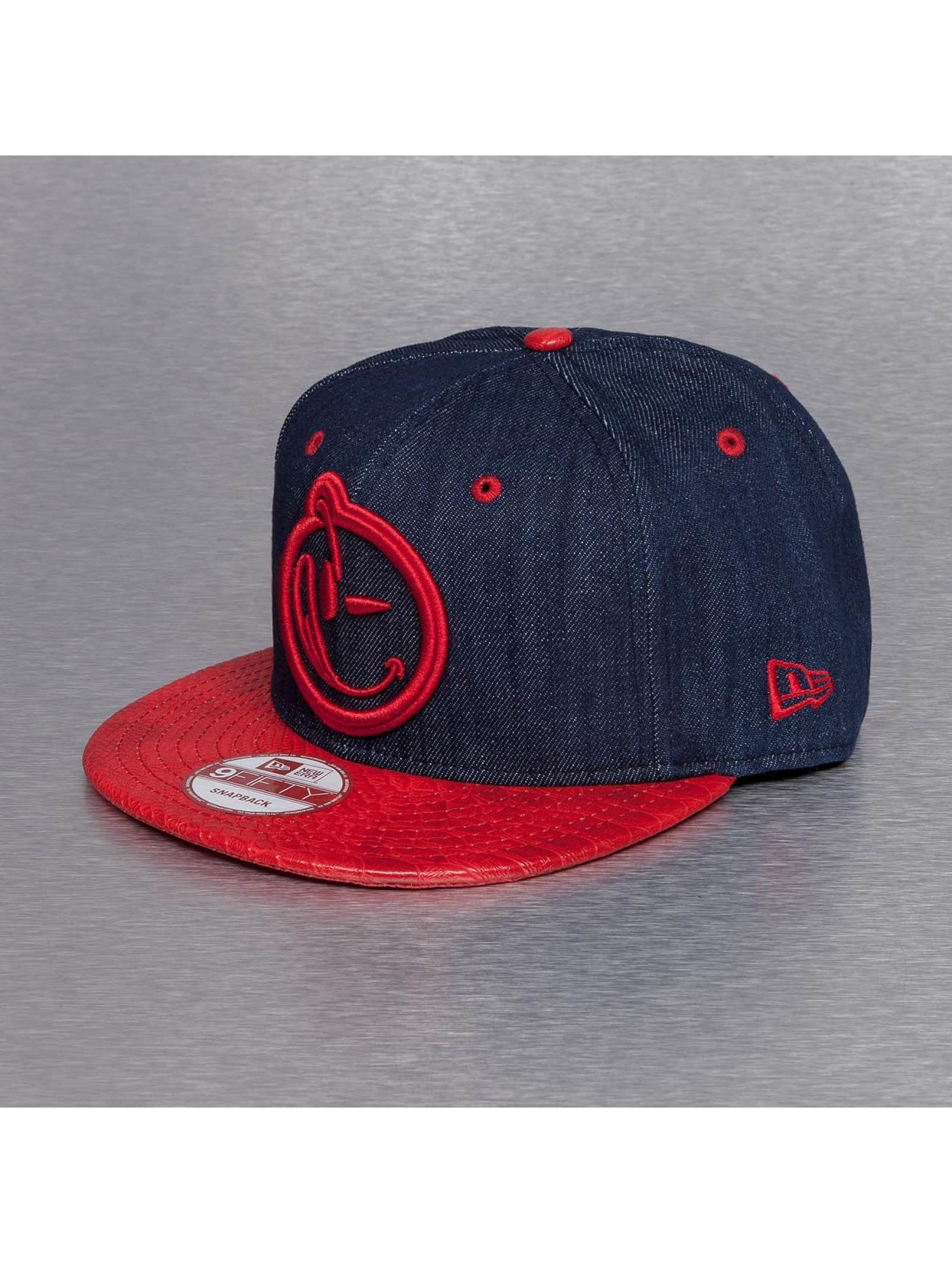 Yums Snapback Caps New Era Classic Snakeskin sininen
