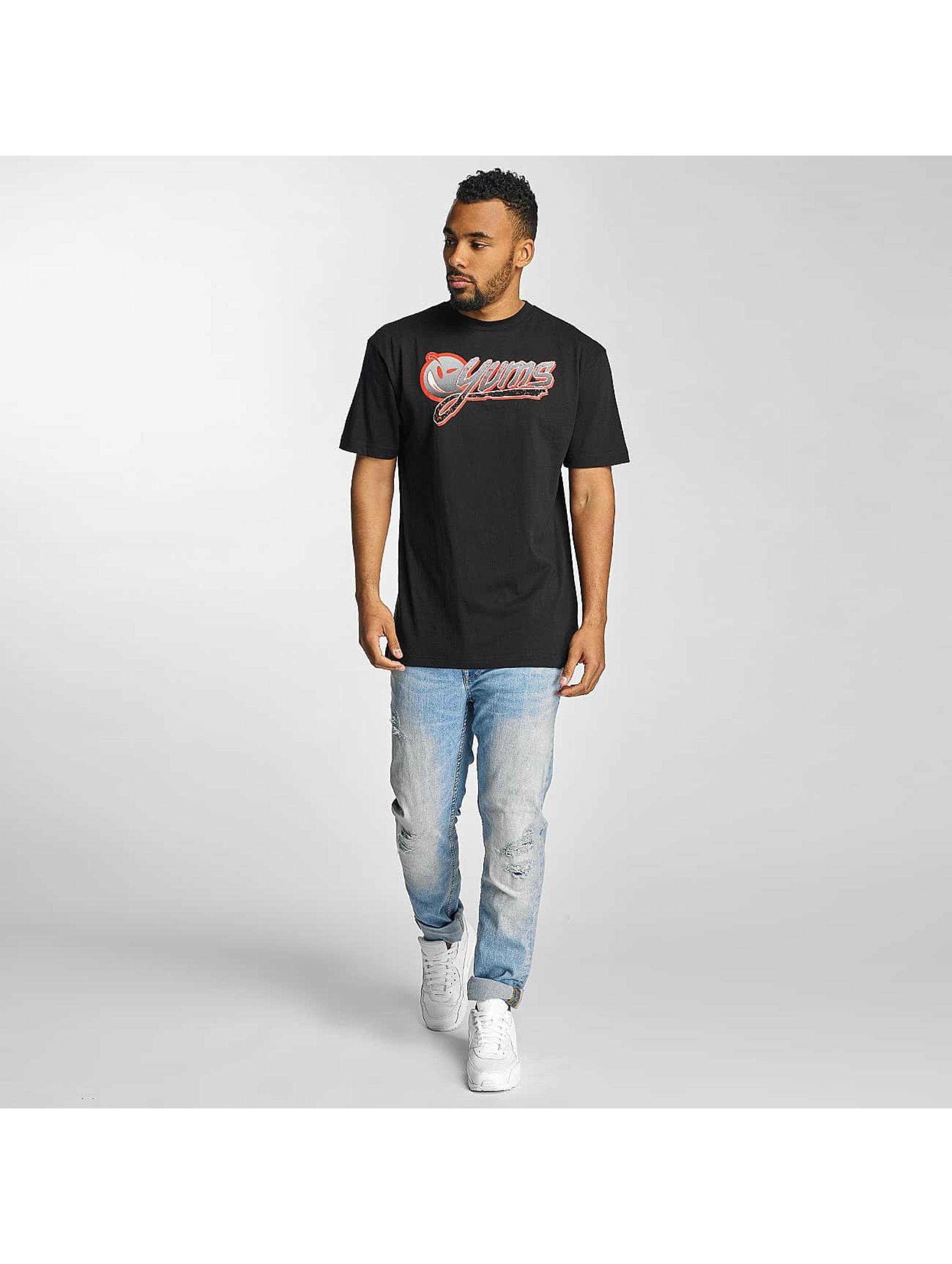 Yums T-skjorter Wild Splatter svart